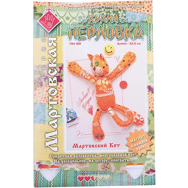 Набор для изготовления  игрушки Мартовский кот, ПерловкаШитьё<br>Набор для изготовления игрушки Мартовский кот, Перловка<br><br>Характеристики: <br><br>• Размер игрушки: 32,5<br>• Материал: Хлопок, Фетр, Металл, Атлас<br>• В комплекте: Ткань, нитки, пуговицы, магниты, проволока, кнопка, листы с выкройками, инструкция<br>• Вес: 100г<br><br>Этот набор для творчества позволит вашему ребенку создать очаровательную игрушку. Ткани в комплекте выполнены в мягких пастельных тонах и состоят из натурального хлопка. В составе имеется подробная инструкция и все необходимое для декорирования фигурки. Особенностями данного комплекта являются магниты, которые вставляются в ручки и ножки игрушки. Это позволяет крепить игрушку на любую металлическую поверхность.<br><br>Набор для изготовления игрушки Мартовский кот, Перловка можно купить в нашем интернет-магазине.<br><br>Ширина мм: 150<br>Глубина мм: 10<br>Высота мм: 275<br>Вес г: 100<br>Возраст от месяцев: 60<br>Возраст до месяцев: 2147483647<br>Пол: Женский<br>Возраст: Детский<br>SKU: 5445436