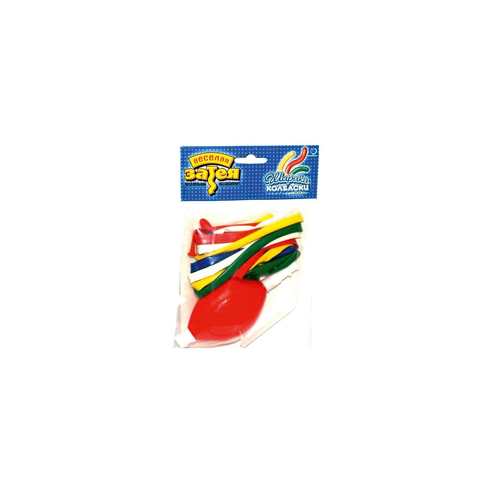 Набор шаров для моделирования с насосом, 10шт (в ассортименте), Веселая ЗатеяВсё для праздника<br>Набор шаров для моделироания с насосом, 10шт., в асс-те, Веселая Затея<br><br>Характеристики:<br><br>• Форма: «колбаски»<br>• В наборе: 10 шариков, насос<br>• В упаковке цвета в ассортименте<br><br>В этот набор входят 10 длинных шариков и насос, с помощью которого их можно надуть. Из надутых шариков можно делать фигурки, как фокусник в цирке и готовыми игрушками порадовать детей или украсить комнату. Шарики в наборе разных цветов, что позволяет проявить фантазию и делать фигурки более разнообразными.<br><br>Набор шаров для моделироания с насосом, 10шт., в асс-те, Веселая Затея можно купить в нашем интернет-магазине.<br><br>Ширина мм: 320<br>Глубина мм: 380<br>Высота мм: 90<br>Вес г: 50<br>Возраст от месяцев: 36<br>Возраст до месяцев: 2147483647<br>Пол: Унисекс<br>Возраст: Детский<br>SKU: 5445448