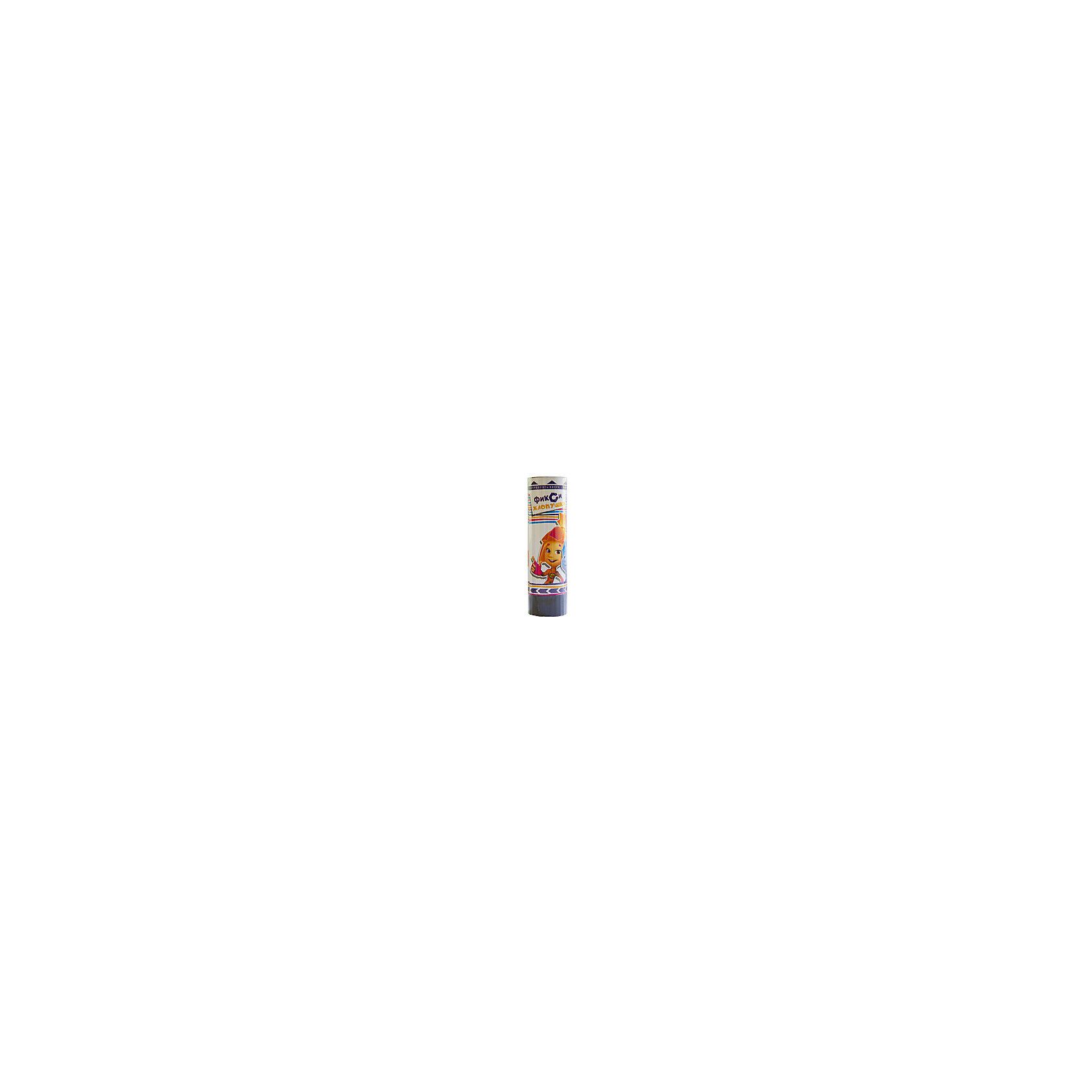 Хлопушка Фиксики, пружинная, 16 см., Веселая ЗатеяДетские хлопушки и бумфетти<br>Хлопушка Фиксики, пружинная, 16 см., Веселая Затея<br><br>Характеристики: <br><br>• Размер: 16 см<br>• Дальность выстрела: 2-3 метра<br>• Без использования огня<br><br>Эта хлопушка идеально подойдет для детского праздника – она безопасна (для ее активации не нужно использовать огонь) и имеет яркие картинки с изображениями любимых детьми персонажей. Она придаст праздничному дню разнообразие, порадует и удивит ваших детей. <br><br>Хлопушка Фиксики, пружинная, 16 см., Веселая Затея можно купить в нашем интернет-магазине.<br><br>Ширина мм: 275<br>Глубина мм: 160<br>Высота мм: 190<br>Вес г: 80<br>Возраст от месяцев: 60<br>Возраст до месяцев: 2147483647<br>Пол: Унисекс<br>Возраст: Детский<br>SKU: 5445461
