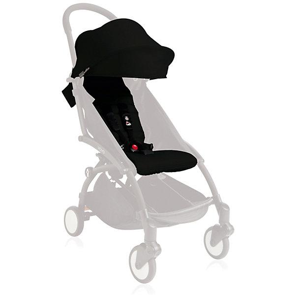Капюшон и сиденье 6+ для YOYO+, Babyzen, черныйАксессуары для колясок<br>Капюшон и сиденье 6+ для YOYO+, Babyzen (Бебизен), черный<br><br>Характеристики:<br><br>• вы можете быстро изменить стиль своей коляски YOYO+<br>• установка занимает меньше 15 минут<br>• карман для мамы на капюшоне<br>• водоотталкивающий материал<br>• защита от солнца UV 50+<br>• подходит для коляски Babyzen YOYO+<br>• в комплекте: матрасик-сидение, капюшон<br>• цвет: черный<br>• коллекция: 2017<br><br>Для того, чтобы коляска вашего малыша была самой стильной, достаточно выбрать подходящий цвет. Капюшон и сиденье черного цвета отлично подойдет для мальчиков и девочек. С ними Babyzen YOYO+ превратится в настоящий спортивный экипаж! Установка комплекта не займет у вас много времени. <br><br>Комплект выполнен из водоотталкивающего материала, что особенно удобно в непогоду. На капюшоне есть небольшой карман, в который вы сможете положить игрушку малыша или необходимые принадлежности. Капюшон оснащен козырьком с защитой от солнца UV 50+. Комплект подходит для детей старше 6 месяцев. Создайте свою стильную коляску Babyzen YOYO+!<br><br>Внимание!!!  Второе и последующие фото показывают, как выглядят аксессуары в готовом варианте на выбранной вами раме.<br><br>Капюшон и сиденье 6+ для YOYO+, Babyzen (Бебизен), черный вы можете купить в нашем интернет-магазине.<br>Ширина мм: 650; Глубина мм: 10; Высота мм: 10; Вес г: 730; Возраст от месяцев: 6; Возраст до месяцев: 36; Пол: Унисекс; Возраст: Детский; SKU: 5445685;