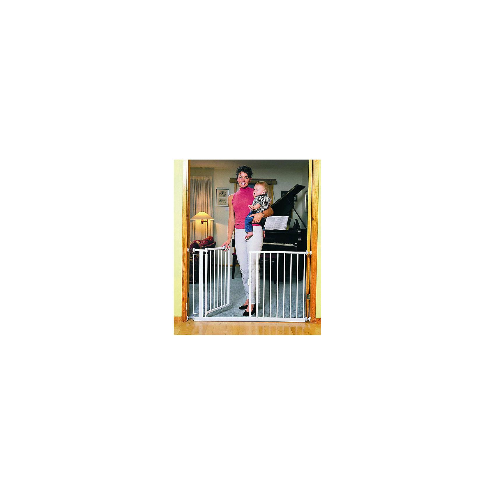 Ворота безопасности 75-82 см, Red CastleБлокирующие и защитные устройства для дома<br>Ворота безопасности 75-82 см, Red Castle (Ред Кастл)<br><br>Характеристики:<br><br>• помогут защитить ребенка от травм и падений<br>• автоматическое закрытие и блокировка<br>• быстро фиксируются при помощи прилегающих чашечек<br>• ребенок не сможет развинтить колесики креплений, благодаря запатентованному механизму крепления<br>• не открываются в одном направлении одновременно<br>• материал: металл с покрытием из белой краски и лака<br>• размер ворот: 75-82х75,5 см<br>• размер упаковки: 65х65х2 см<br>• вес: 6400 грамм<br><br>Ворота безопасности - незаменимая вещь для родителей. Они помогут защитить вашего малыша от травм, падений и других опасных ситуаций. Ворота можно установить в лестничный проем или проход, который должен быть недоступен для ребенка. Конструкция устанавливается без сверления, и фиксируется при помощи плотно прилегающих чашечек. <br><br>Колесики креплений оснащены специальным запатентованным механизмом, поэтому ваш кроха не сможет справиться с ними самостоятельно. Ширина ворот регулируется от 75 до 82 см. Дверца автоматически закрывается и блокируется, если вы забудете это сделать. Ворота безопасности помогут позаботиться о вашем малыше!<br><br>Ворота безопасности 75-82 см, Red Castle (Ред Кастл) вы можете купить в нашем интернет-магазине.<br><br>Ширина мм: 820<br>Глубина мм: 10<br>Высота мм: 751<br>Вес г: 6360<br>Возраст от месяцев: -2147483648<br>Возраст до месяцев: 2147483647<br>Пол: Унисекс<br>Возраст: Детский<br>SKU: 5445688