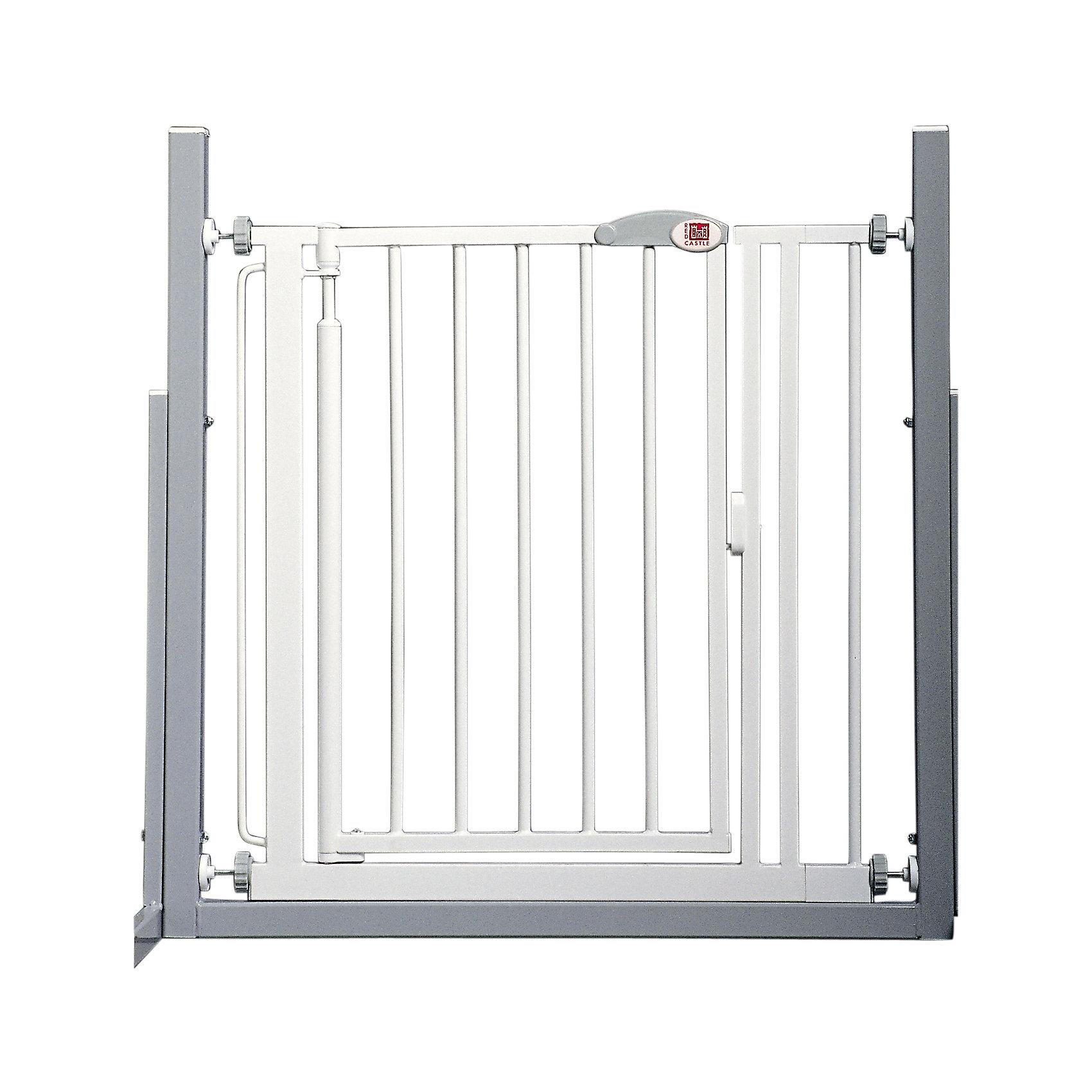 Ворота безопасности 68,5-75,5 см, Red CastleБлокирующие и защитные устройства для дома<br>Ворота безопасности 68,5-75,5 см, Red Castle (Ред Кастл)<br><br>Характеристики:<br><br>• помогут защитить ребенка от травм и падений<br>• автоматическое закрытие и блокировка<br>• быстро фиксируются при помощи прилегающих чашечек<br>• ребенок не сможет развинтить колесики креплений, благодаря запатентованному механизму крепления<br>• не открываются в одном направлении одновременно<br>• материал: металл с покрытием из белой краски и лака<br>• размер ворот: 68,5х75,5х75,5 см<br>• размер упаковки: 66х78,5х4 см<br>• вес: 6300 грамм<br><br>Ворота безопасности - незаменимая вещь для родителей. Они помогут защитить вашего малыша от травм, падений и других опасных ситуаций. Ворота можно установить в лестничный проем или проход, который должен быть недоступен для ребенка. Конструкция устанавливается без сверления, и фиксируется при помощи плотно прилегающих чашечек. <br><br>Колесики креплений оснащены специальным запатентованным механизмом, поэтому ваш кроха не сможет справиться с ними самостоятельно. Ширина ворот регулируется от 68,5 до 75,5 см. Дверца автоматически закрывается и блокируется, если вы забудете это сделать. Ворота безопасности помогут позаботиться о вашем малыше!<br><br>Ворота безопасности 68,5-75,5 см, Red Castle (Ред Кастл) вы можете купить в нашем интернет-магазине.<br><br>Ширина мм: 751<br>Глубина мм: 10<br>Высота мм: 751<br>Вес г: 6100<br>Возраст от месяцев: -2147483648<br>Возраст до месяцев: 2147483647<br>Пол: Унисекс<br>Возраст: Детский<br>SKU: 5445690