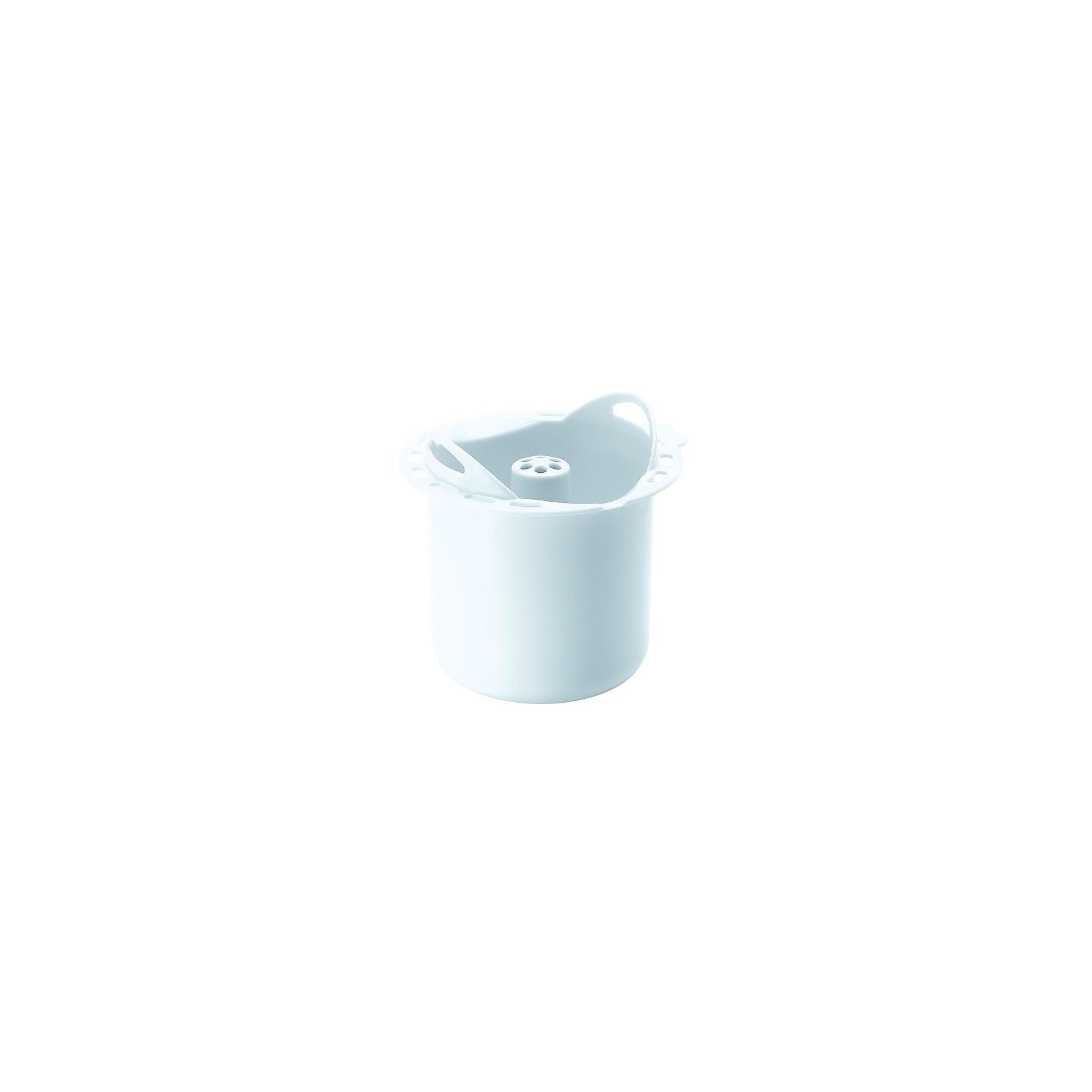 Контейнер для варки круп BBK, Beaba, белыйДетская бытовая техника<br>Контейнер для варки круп BBK, Beaba (Беаба), белый<br><br>Характеристики:<br><br>• поможет сварить крупу, макароны и бобовые без постоянного присмотра<br>• подходит для Babycook Solo/Duo<br>• высота: 8 см<br>• диаметр: 11 см<br>• материал: пластик<br>• размер упаковки: 12х12х9 см<br>• вес: 140 грамм<br><br>Контейнер BBK пригодится для варки круп, макаронных изделий и бобовых в пароварке Babycook Solo/Duo от Beaba. Пользоваться контейнером очень просто: насыпьте в центральную часть продукт, залейте водой, вставьте в чашу блендера-пароварки и установите нужный режим. Через некоторое время питание будет готово, в то время как вы можете спокойно заниматься своими делами.<br><br>Контейнер для варки круп BBK, Beaba (Беаба), белый можно купить в нашем интернет-магазине.<br><br>Ширина мм: 120<br>Глубина мм: 112<br>Высота мм: 110<br>Вес г: 140<br>Возраст от месяцев: 4<br>Возраст до месяцев: 2147483647<br>Пол: Унисекс<br>Возраст: Детский<br>SKU: 5445707