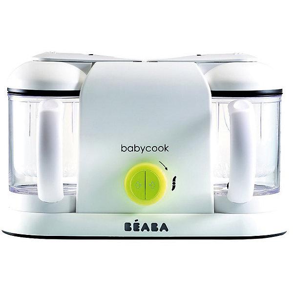 Блендер-пароварка Babycook Plus, Beaba, NEON EUКухонная утварь<br>Блендер-пароварка Babycook Plus, Beaba (Беаба), NEON EU<br><br>Характеристики:<br><br>• готовит на пару, измельчает готовые продукты, размораживает и подогревает<br>• готовит мясо, овощи и другие продукты за 15 минут<br>• 2 отдельные чаши по 1100 мл позволяют готовить два блюда одновременно<br>• автоматическое отключение<br>• звуковой сигнал<br>• световой индикатор удаления накипи<br>• легкая и компактная<br>• объем кувшина: 1100 мл (2 шт.)<br>• управление: механическое<br>• материал: пластик, металл<br>• вес: 3325 грамм<br>• размер упаковки: 41х25,5х19,5 см<br>• цвет: неон<br><br>При помощи блендера-пароварки Babycook Plus вы с легкостью приготовите вкусную и полезную еду для вашего малыша. Всего за 15 минут пароварка приготовит продукты на пару, сохраняя в них витамины и насыщенный вкус. Функция измельчения позволит вам сделать пюре для ребенка. Вы сможете подобрать нужную консистенцию с учетом возраста малыша. <br><br>Кроме того, вы сможете разморозить продукты, подогреть питание и стерилизовать бутылочки. Блендер-пароварка оснащена функцией автоматического отключения, звуковым сигналом при окончании цикла. Две объемные чаши по 1100 мл позволят вам приготовить 2 блюда одновременно. Babycook Plus - универсальный помощник для заботливых родителей!<br><br>Блендер-пароварку Babycook Plus, Beaba (Беаба), NEON EU вы можете купить в нашем интернет-магазине.<br>Ширина мм: 379; Глубина мм: 180; Высота мм: 240; Вес г: 3400; Возраст от месяцев: 4; Возраст до месяцев: 2147483647; Пол: Унисекс; Возраст: Детский; SKU: 5445711;