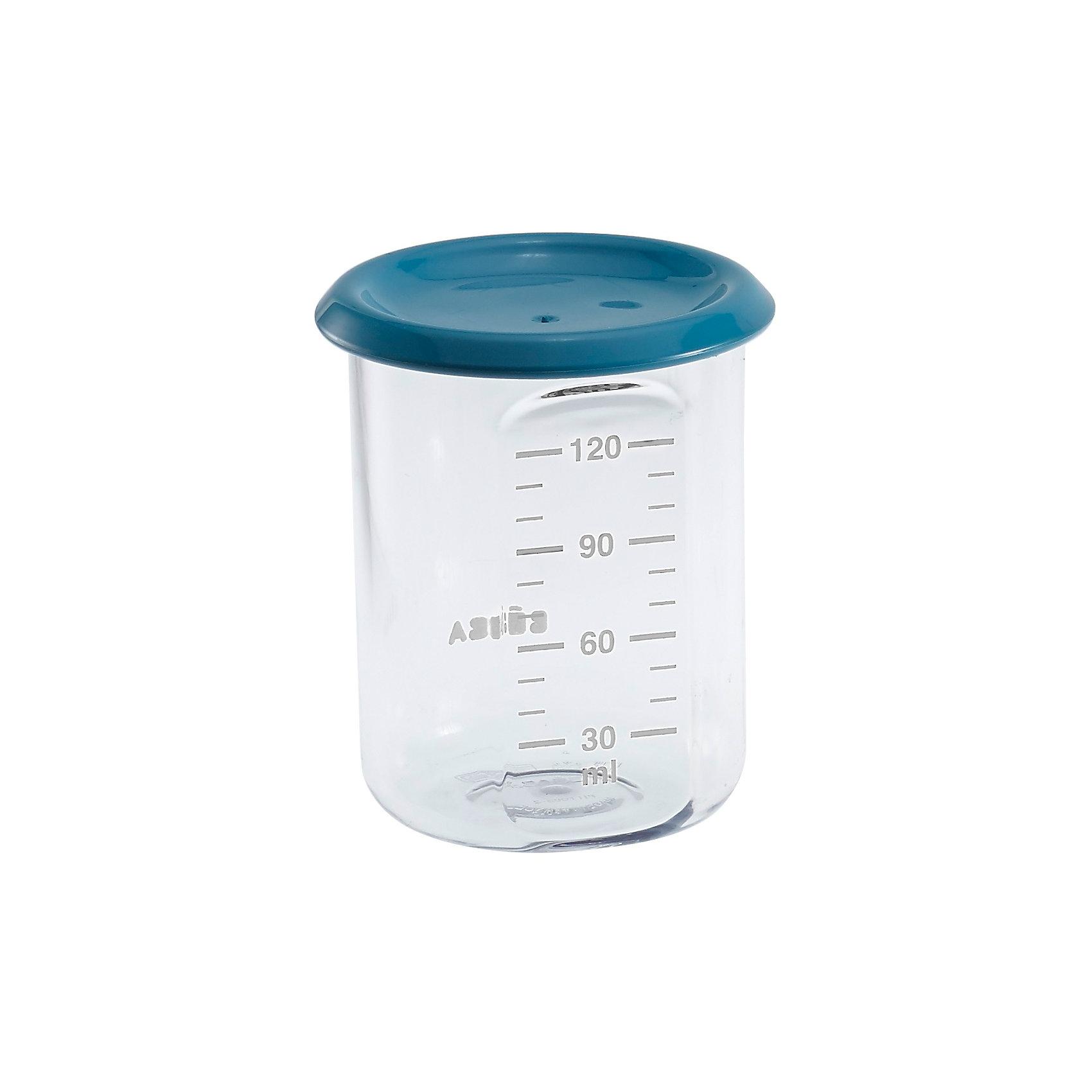 Контейнер для хранения Baby Portion 120мл, Beaba, синийПосуда для малышей<br>Контейнер для хранения Baby Portion 120мл, Beaba (Беаба), синий<br><br>Характеристики:<br><br>• герметично закрывается крышкой<br>• удобная мерная шкала<br>• не содержит бисфенол А<br>• можно разогревать в микроволновой печи и мыть в посудомоечной машине<br>• цвет: синий<br>• объем: 120 мл<br>• размер: 6х6х7,5 см<br>• вес: 200 грамм<br><br>Контейнер Baby Portion - отличный помощник для родителей. Крышка контейнера плотно закрывается для надежного хранения пищевых продуктов. Контейнер можно мыть в посудомоечной машине, использовать для заморозки продуктов и разогревать в микроволновой печи. Удобная мерная шкала поможет вам отмерить необходимое количество продукта. Не содержит бисфенол А.<br><br>Контейнер для хранения Baby Portion 120мл, Beaba (Беаба), синий можно купить в нашем интернет-магазине.<br><br>Ширина мм: 62<br>Глубина мм: 62<br>Высота мм: 81<br>Вес г: 50<br>Возраст от месяцев: 4<br>Возраст до месяцев: 2147483647<br>Пол: Унисекс<br>Возраст: Детский<br>SKU: 5445712