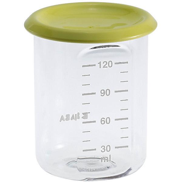 Контейнер для хранения Baby Portion 120мл, Beaba, салатовыйДетская посуда<br>Контейнер для хранения Baby Portion 120мл, Beaba (Беаба), салатовый<br><br>Характеристики:<br><br>• герметично закрывается крышкой<br>• удобная мерная шкала<br>• не содержит бисфенол А<br>• можно разогревать в микроволновой печи и мыть в посудомоечной машине<br>• цвет: салатовый<br>• объем: 120 мл<br>• размер: 6х6х7,5 см<br>• вес: 200 грамм<br><br>Контейнер Baby Portion - отличный помощник для родителей. Крышка контейнера плотно закрывается для надежного хранения пищевых продуктов. Контейнер можно мыть в посудомоечной машине, использовать для заморозки продуктов и разогревать в микроволновой печи. Удобная мерная шкала поможет вам отмерить необходимое количество продукта. Не содержит бисфенол А.<br><br>Контейнер для хранения Baby Portion 120мл, Beaba (Беаба), салатовый можно купить в нашем интернет-магазине.<br><br>Ширина мм: 62<br>Глубина мм: 62<br>Высота мм: 81<br>Вес г: 50<br>Возраст от месяцев: 4<br>Возраст до месяцев: 2147483647<br>Пол: Унисекс<br>Возраст: Детский<br>SKU: 5445713