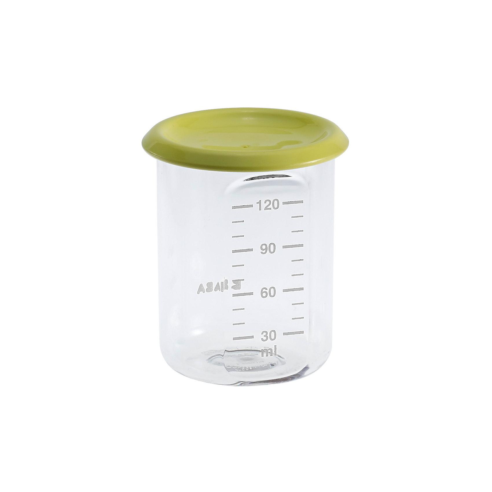 Контейнер для хранения Baby Portion 120мл, Beaba, салатовыйПосуда для малышей<br>Контейнер для хранения Baby Portion 120мл, Beaba (Беаба), салатовый<br><br>Характеристики:<br><br>• герметично закрывается крышкой<br>• удобная мерная шкала<br>• не содержит бисфенол А<br>• можно разогревать в микроволновой печи и мыть в посудомоечной машине<br>• цвет: салатовый<br>• объем: 120 мл<br>• размер: 6х6х7,5 см<br>• вес: 200 грамм<br><br>Контейнер Baby Portion - отличный помощник для родителей. Крышка контейнера плотно закрывается для надежного хранения пищевых продуктов. Контейнер можно мыть в посудомоечной машине, использовать для заморозки продуктов и разогревать в микроволновой печи. Удобная мерная шкала поможет вам отмерить необходимое количество продукта. Не содержит бисфенол А.<br><br>Контейнер для хранения Baby Portion 120мл, Beaba (Беаба), салатовый можно купить в нашем интернет-магазине.<br><br>Ширина мм: 62<br>Глубина мм: 62<br>Высота мм: 81<br>Вес г: 50<br>Возраст от месяцев: 4<br>Возраст до месяцев: 2147483647<br>Пол: Унисекс<br>Возраст: Детский<br>SKU: 5445713
