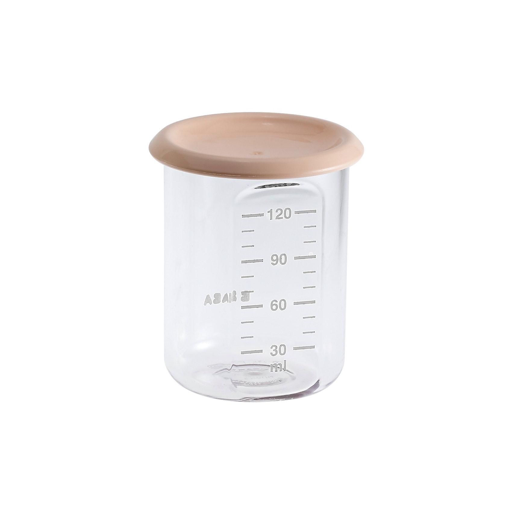 Контейнер для хранения Baby Portion 120мл, Beaba, бежевыйПосуда для малышей<br>Контейнер для хранения Baby Portion 120мл, Beaba (Беаба), бежевый<br><br>Характеристики:<br><br>• герметично закрывается крышкой<br>• удобная мерная шкала<br>• не содержит бисфенол А<br>• можно разогревать в микроволновой печи и мыть в посудомоечной машине<br>• цвет: бежевый<br>• объем: 120 мл<br>• размер: 6х6х7,5 см<br>• вес: 200 грамм<br><br>Контейнер Baby Portion - отличный помощник для родителей. Крышка контейнера плотно закрывается для надежного хранения пищевых продуктов. Контейнер можно мыть в посудомоечной машине, использовать для заморозки продуктов и разогревать в микроволновой печи. Удобная мерная шкала поможет вам отмерить необходимое количество продукта. Не содержит бисфенол А.<br><br>Контейнер для хранения Baby Portion 120мл, Beaba (Беаба), бежевый можно купить в нашем интернет-магазине.<br><br>Ширина мм: 62<br>Глубина мм: 62<br>Высота мм: 81<br>Вес г: 50<br>Возраст от месяцев: 4<br>Возраст до месяцев: 2147483647<br>Пол: Унисекс<br>Возраст: Детский<br>SKU: 5445714