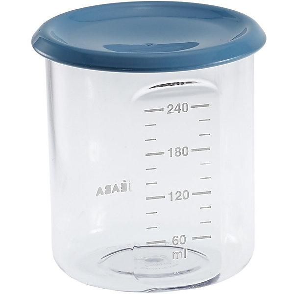 Контейнер для хранения Maxi Portion 240мл, Beaba, синийДетская посуда<br>Контейнер для хранения Maxi Portion 240мл, Beaba (Беаба), синий<br><br>Характеристики:<br><br>• герметично закрывается крышкой<br>• удобная мерная шкала<br>• не содержит бисфенол А<br>• можно разогревать в микроволновой печи и мыть в посудомоечной машине<br>• цвет: синий<br>• объем: 240 мл<br>• диаметр: 9,5 см<br><br>Контейнер Maxi Portion - отличный помощник для родителей. Крышка контейнера плотно закрывается для надежного хранения пищевых продуктов. Контейнер можно мыть в посудомоечной машине, использовать для заморозки продуктов и разогревать в микроволновой печи. Удобная мерная шкала поможет вам отмерить необходимое количество продукта. Не содержит бисфенол А.<br><br>Контейнер для хранения Maxi Portion 240мл, Beaba (Беаба), синий можно купить в нашем интернет-магазине.<br><br>Ширина мм: 85<br>Глубина мм: 85<br>Высота мм: 91<br>Вес г: 70<br>Возраст от месяцев: 4<br>Возраст до месяцев: 2147483647<br>Пол: Унисекс<br>Возраст: Детский<br>SKU: 5445715