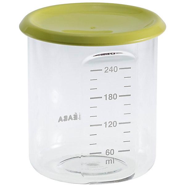 Контейнер для хранения Maxi Portion 240мл, Beaba, салатовыйКонтейнеры для еды и бутербродницы<br>Контейнер для хранения Maxi Portion 240мл, Beaba (Беаба), салатовый<br><br>Характеристики:<br><br>• герметично закрывается крышкой<br>• удобная мерная шкала<br>• не содержит бисфенол А<br>• можно разогревать в микроволновой печи и мыть в посудомоечной машине<br>• цвет: салатовый<br>• объем: 240 мл<br>• диаметр: 9,5 см<br><br>Контейнер Maxi Portion - отличный помощник для родителей. Крышка контейнера плотно закрывается для надежного хранения пищевых продуктов. Контейнер можно мыть в посудомоечной машине, использовать для заморозки продуктов и разогревать в микроволновой печи. Удобная мерная шкала поможет вам отмерить необходимое количество продукта. Не содержит бисфенол А.<br><br>Контейнер для хранения Maxi Portion 240мл, Beaba (Беаба), салатовый можно купить в нашем интернет-магазине.<br>Ширина мм: 85; Глубина мм: 85; Высота мм: 91; Вес г: 70; Возраст от месяцев: 4; Возраст до месяцев: 2147483647; Пол: Унисекс; Возраст: Детский; SKU: 5445716;