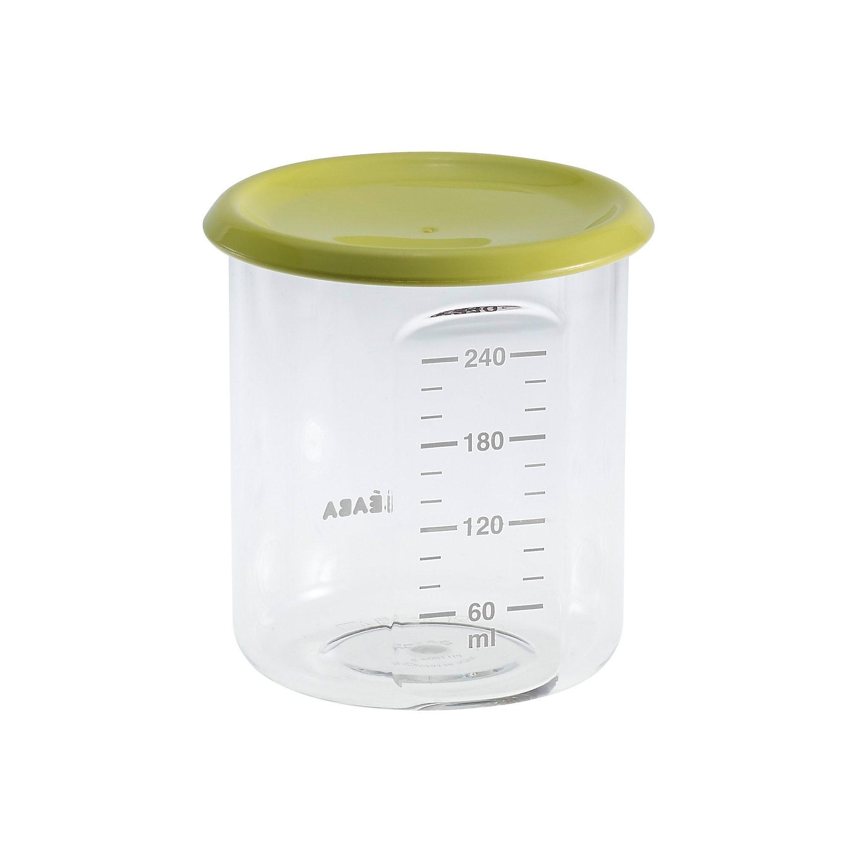 Контейнер для хранения Maxi Portion 240мл, Beaba, салатовыйКонтейнеры<br>Контейнер для хранения Maxi Portion 240мл, Beaba (Беаба), салатовый<br><br>Характеристики:<br><br>• герметично закрывается крышкой<br>• удобная мерная шкала<br>• не содержит бисфенол А<br>• можно разогревать в микроволновой печи и мыть в посудомоечной машине<br>• цвет: салатовый<br>• объем: 240 мл<br>• диаметр: 9,5 см<br><br>Контейнер Maxi Portion - отличный помощник для родителей. Крышка контейнера плотно закрывается для надежного хранения пищевых продуктов. Контейнер можно мыть в посудомоечной машине, использовать для заморозки продуктов и разогревать в микроволновой печи. Удобная мерная шкала поможет вам отмерить необходимое количество продукта. Не содержит бисфенол А.<br><br>Контейнер для хранения Maxi Portion 240мл, Beaba (Беаба), салатовый можно купить в нашем интернет-магазине.<br><br>Ширина мм: 85<br>Глубина мм: 85<br>Высота мм: 91<br>Вес г: 70<br>Возраст от месяцев: 4<br>Возраст до месяцев: 2147483647<br>Пол: Унисекс<br>Возраст: Детский<br>SKU: 5445716