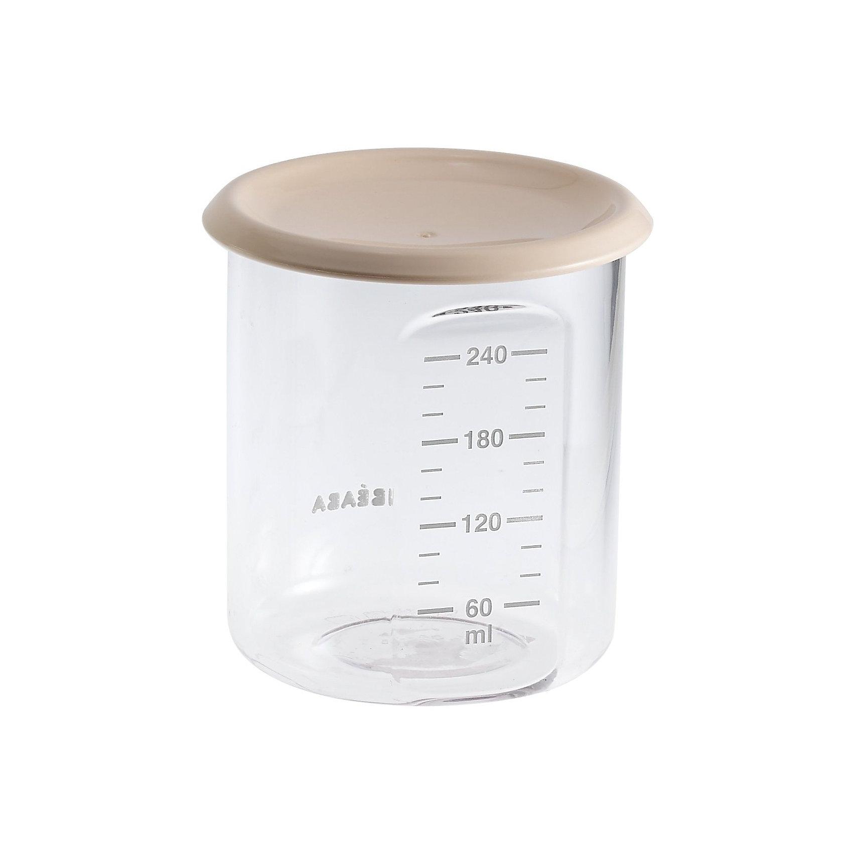 Контейнер для хранения Maxi Portion 240мл, Beaba, бежевыйКонтейнер для хранения Maxi Portion 240мл, Beaba (Беаба), бежевый<br><br>Характеристики:<br><br>• герметично закрывается крышкой<br>• удобная мерная шкала<br>• не содержит бисфенол А<br>• можно разогревать в микроволновой печи и мыть в посудомоечной машине<br>• цвет: бежевый<br>• объем: 240 мл<br>• диаметр: 9,5 см<br><br>Контейнер Maxi Portion - отличный помощник для родителей. Крышка контейнера плотно закрывается для надежного хранения пищевых продуктов. Контейнер можно мыть в посудомоечной машине, использовать для заморозки продуктов и разогревать в микроволновой печи. Удобная мерная шкала поможет вам отмерить необходимое количество продукта. Не содержит бисфенол А.<br><br>Контейнер для хранения Maxi Portion 240мл, Beaba (Беаба), бежевый можно купить в нашем интернет-магазине.<br><br>Ширина мм: 85<br>Глубина мм: 85<br>Высота мм: 91<br>Вес г: 70<br>Возраст от месяцев: 4<br>Возраст до месяцев: 2147483647<br>Пол: Унисекс<br>Возраст: Детский<br>SKU: 5445717