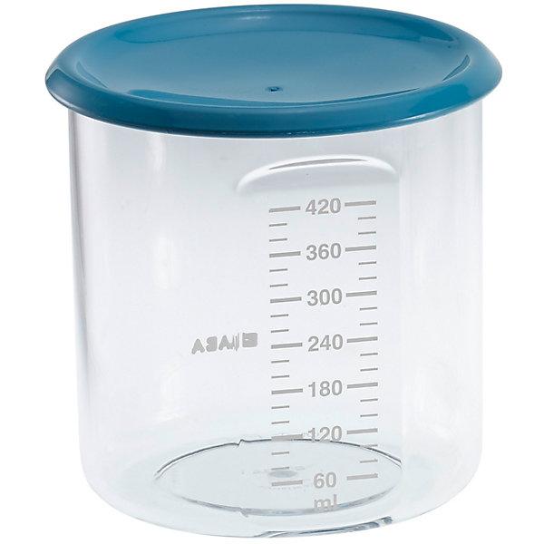 Контейнер для хранения Maxi+Portion 420мл, Beaba, синийДетская посуда<br>Контейнер для хранения Maxi+Portion 420мл, Beaba (Беаба), синий<br><br>Характеристики:<br><br>• герметично закрывается крышкой<br>• удобная мерная шкала до 420 мл<br>• не содержит бисфенол А<br>• можно разогревать в микроволновой печи и мыть в посудомоечной машине<br>• цвет: синий<br>• объем: 500 мл<br>• вес: 200 грамм<br><br>Контейнер Maxi+ Portion - отличный помощник для родителей. Крышка контейнера плотно закрывается для надежного хранения пищевых продуктов. Контейнер можно мыть в посудомоечной машине, использовать для заморозки продуктов и разогревать в микроволновой печи. Удобная мерная шкала поможет вам отмерить необходимое количество продукта. Не содержит бисфенол А.<br><br>Контейнер для хранения Maxi+Portion 420мл, Beaba (Беаба), синий можно купить в нашем интернет-магазине.<br><br>Ширина мм: 102<br>Глубина мм: 102<br>Высота мм: 101<br>Вес г: 110<br>Возраст от месяцев: 4<br>Возраст до месяцев: 2147483647<br>Пол: Унисекс<br>Возраст: Детский<br>SKU: 5445718