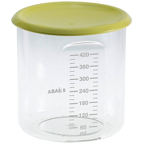 Контейнер для хранения Maxi+Portion 420мл, Beaba, салатовыйМолокоотсосы и аксессуары<br>Контейнер для хранения Maxi+Portion 420мл, Beaba (Беаба), салатовый<br><br>Характеристики:<br><br>• герметично закрывается крышкой<br>• удобная мерная шкала до 420 мл<br>• не содержит бисфенол А<br>• можно разогревать в микроволновой печи и мыть в посудомоечной машине<br>• цвет: салатовый<br>• объем: 500 мл<br>• вес: 200 грамм<br><br>Контейнер Maxi+ Portion - отличный помощник для родителей. Крышка контейнера плотно закрывается для надежного хранения пищевых продуктов. Контейнер можно мыть в посудомоечной машине, использовать для заморозки продуктов и разогревать в микроволновой печи. Удобная мерная шкала поможет вам отмерить необходимое количество продукта. Не содержит бисфенол А.<br><br>Контейнер для хранения Maxi+Portion 420мл, Beaba (Беаба), салатовый можно купить в нашем интернет-магазине.<br>Ширина мм: 102; Глубина мм: 102; Высота мм: 101; Вес г: 110; Возраст от месяцев: 4; Возраст до месяцев: 2147483647; Пол: Унисекс; Возраст: Детский; SKU: 5445719;