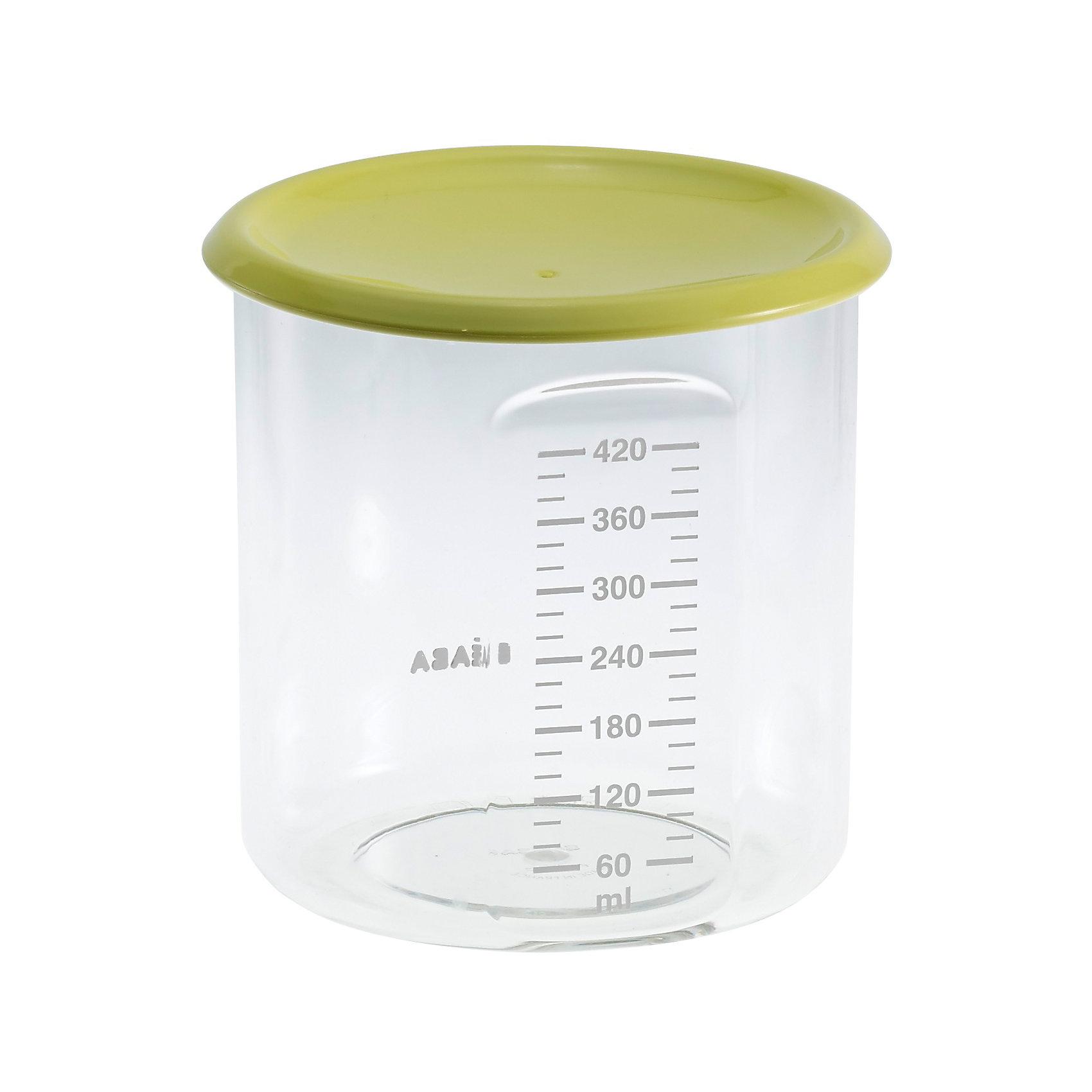 Контейнер для хранения Maxi+Portion 420мл, Beaba, салатовыйПосуда для малышей<br>Контейнер для хранения Maxi+Portion 420мл, Beaba (Беаба), салатовый<br><br>Характеристики:<br><br>• герметично закрывается крышкой<br>• удобная мерная шкала до 420 мл<br>• не содержит бисфенол А<br>• можно разогревать в микроволновой печи и мыть в посудомоечной машине<br>• цвет: салатовый<br>• объем: 500 мл<br>• вес: 200 грамм<br><br>Контейнер Maxi+ Portion - отличный помощник для родителей. Крышка контейнера плотно закрывается для надежного хранения пищевых продуктов. Контейнер можно мыть в посудомоечной машине, использовать для заморозки продуктов и разогревать в микроволновой печи. Удобная мерная шкала поможет вам отмерить необходимое количество продукта. Не содержит бисфенол А.<br><br>Контейнер для хранения Maxi+Portion 420мл, Beaba (Беаба), салатовый можно купить в нашем интернет-магазине.<br><br>Ширина мм: 102<br>Глубина мм: 102<br>Высота мм: 101<br>Вес г: 110<br>Возраст от месяцев: 4<br>Возраст до месяцев: 2147483647<br>Пол: Унисекс<br>Возраст: Детский<br>SKU: 5445719