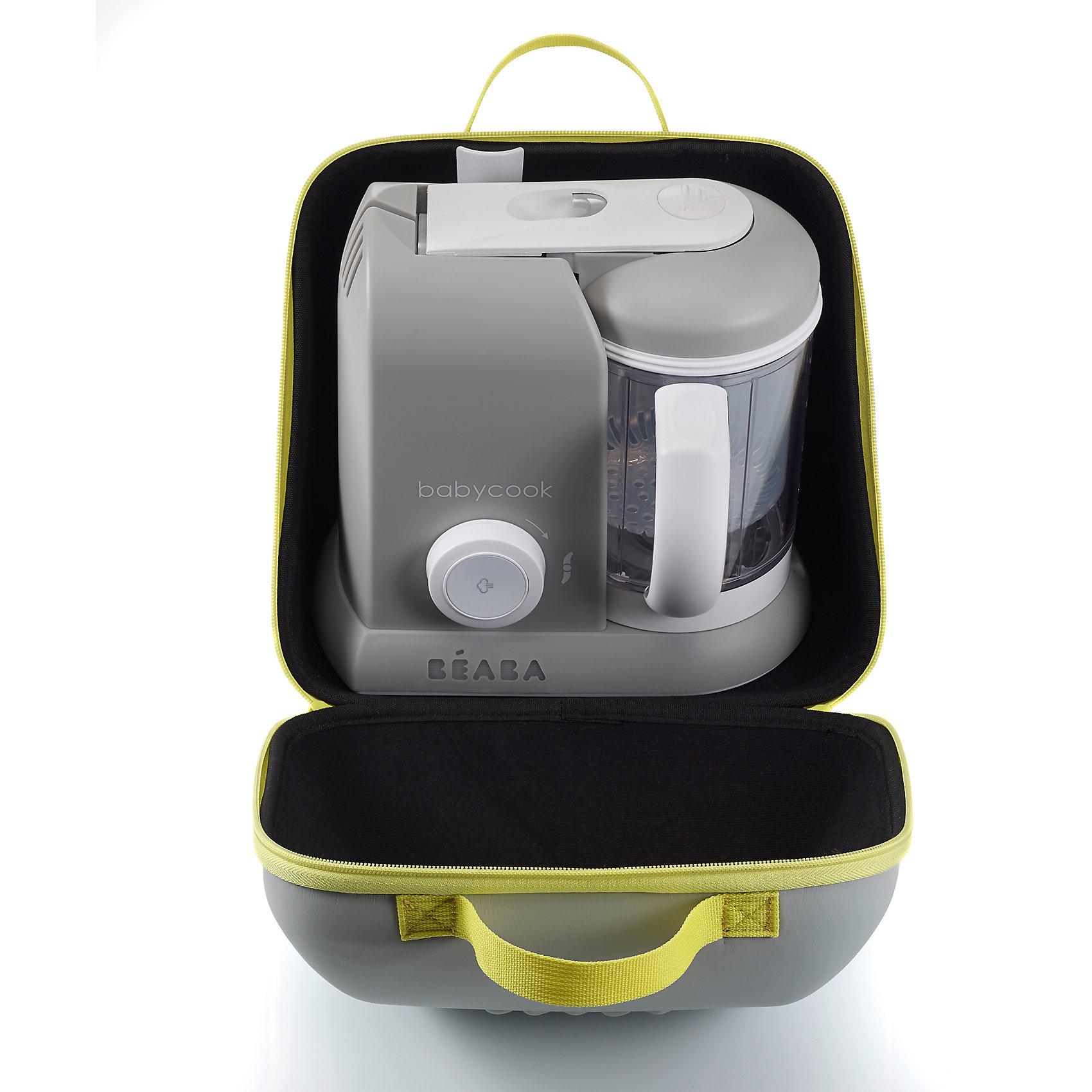 Сумка для блендера-пароварки Babycook, Beaba, серый-желтыйТехника для кухни<br>Сумка для блендера-пароварки Babycook, Beaba (Беаба), серый-желтый<br><br>Характеристики:<br><br>• отлично подойдет для поездок и путешествий<br>• подходит для всех моделей пароварок Babycook Solo<br>• ударопрочный каркас<br>• двойная застежка-молния<br>• две удобные ручки<br>• внутренний карман и две перегородки<br>• материал: пластик, текстиль<br>• размер: 40х18х24 см<br>• вес: 300 грамм<br>• цвет: серый-желтый<br><br>Блендер-пароварка - незаменимая вещь для хозяек. С сумкой для блендера-пароварки вы всегда сможете взять любимую технику с собой, чтобы у малыша была вкусная и здоровая еда. Она изготовлена из надежного ударопрочного материала. Оснащена двумя удобными ручками и двойной застежкой молнией. Внутри есть карман на молнии и две перегородки. Сумка подходит ко всем всех моделей Babycook Solo.<br><br>Сумку для блендера-пароварки Babycook, Beaba (Беаба), серый-желтый вы можете купить в нашем интернет-магазине.<br><br>Ширина мм: 265<br>Глубина мм: 215<br>Высота мм: 255<br>Вес г: 360<br>Возраст от месяцев: 4<br>Возраст до месяцев: 2147483647<br>Пол: Унисекс<br>Возраст: Детский<br>SKU: 5445721