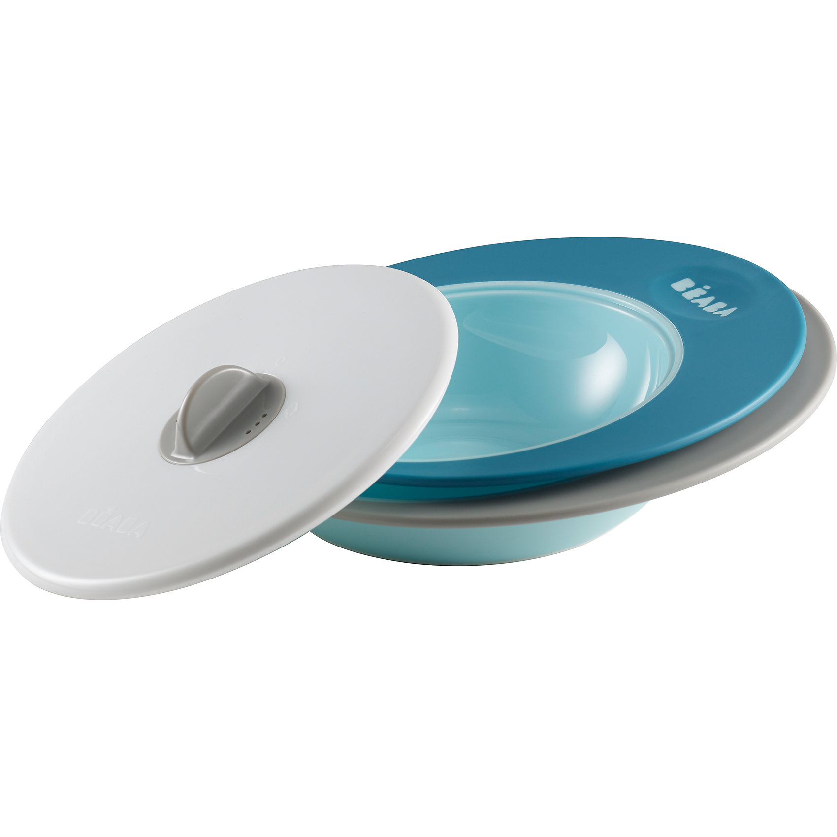Набор тарелок ELLIPSE, Beaba, синийНабор тарелок ELLIPSE, Beaba (Беаба), синий<br><br>Характеристики:<br><br>• два положения крышки: для микроволновой печи и для сохранения тепла<br>• прорезиненное основание<br>• широкие края<br>• выгнутое дно<br>• объем маленькой тарелки: 210 мл<br>• объем большой тарелки: 300 мл<br>• подходят для посудомоечной машины и микроволновой печи<br>• материал: пластик<br>• размер упаковки: 22х22х8 см<br>• вес: 500 грамм<br>• цвет: синий<br><br>Тарелки ELLIPSE подходят для первого прикорма и самостоятельного приема пищи. В комплект входят две тарелки (210 и 300 мл) и крышка. Крышка имеет два положения. Одно предназначено для разогрева в микроволновой печи, а второе для сохранения температуры. Широкие края тарелок позволяют легко перемешать содержимое. А выгнутое дно поможет правильно распределить пищу. Тарелки подходят для использования в микроволновой печи и посудомоечной машине.<br><br>Набор тарелок ELLIPSE, Beaba (Беаба), синий можно купить в нашем интернет-магазине.<br><br>Ширина мм: 205<br>Глубина мм: 66<br>Высота мм: 240<br>Вес г: 370<br>Возраст от месяцев: 4<br>Возраст до месяцев: 2147483647<br>Пол: Мужской<br>Возраст: Детский<br>SKU: 5445726
