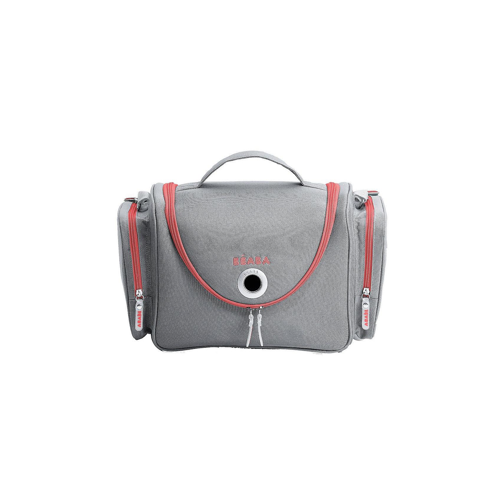 Сумка для мамы, Beaba, Grey/CoralСумки для колясок<br>Сумка для мамы, Beaba (Беаба), Grey/Coral<br><br>Характеристики:<br><br>• вместительное основное отделение<br>• маленькие карманы и держатели во внутреннем отделении<br>• 2 больших боковых кармана<br>• сумка хорошо сохраняет форму<br>• можно подвесить с помощью кольца на застежке<br>• размер сумки: 32х20х38 см<br>• вес: 500 грамм<br>• цвет: серый/коралловый<br><br>Сумка для мамы Beaba поможет держать под рукой всё необходимое для ухода за малышом. Сумка имеет одно основное отделение с карманами, держателями и сеточками, а также два вместительных боковых кармана. Вы сможете положить в сумку подгузники, детскую косметику, салфетки и другие нужные аксессуары. Сумка хорошо сохраняет форму, благодаря чему вы сможете поставить ее на стол, комод или подвесить при помощи кольца на застежке.<br><br>Сумку для мамы, Beaba (Беаба), Grey/Coral вы можете купить в нашем интернет-магазине.<br><br>Ширина мм: 315<br>Глубина мм: 200<br>Высота мм: 277<br>Вес г: 500<br>Возраст от месяцев: -2147483648<br>Возраст до месяцев: 2147483647<br>Пол: Женский<br>Возраст: Детский<br>SKU: 5445735