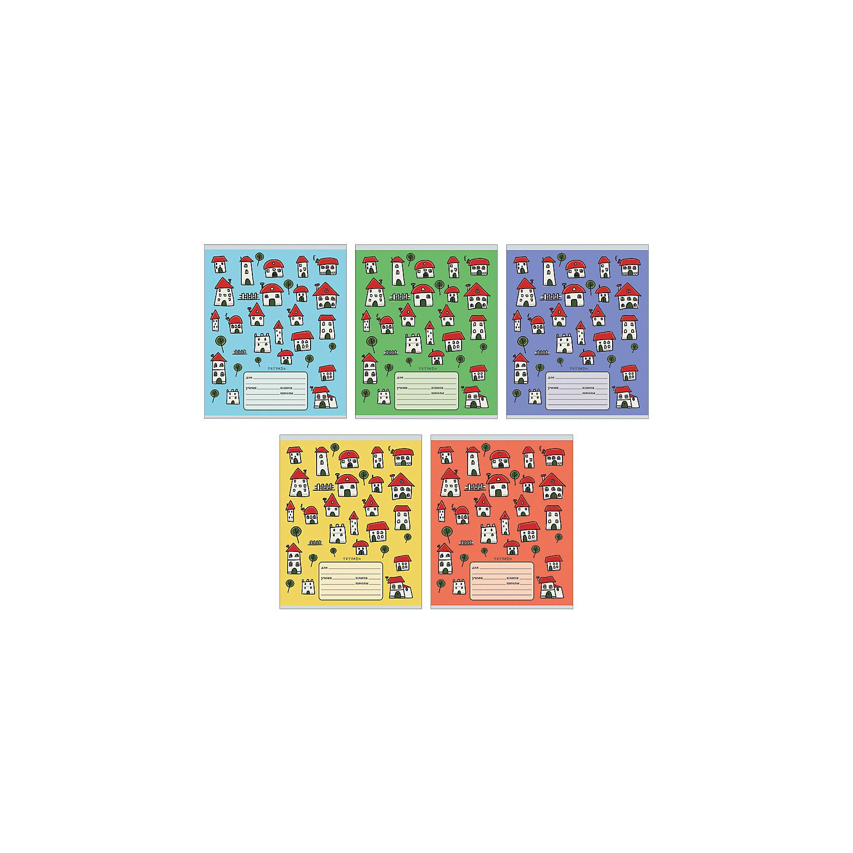 Комплект тетрадей Домики (10 шт), 18 листов, Канц-ЭксмоБумажная продукция<br>Характеристики комплекта тетрадей Домики:<br><br>• размеры: 20.2х16.3х3.5 см<br>• количество листов: 18 шт.<br>• разлиновка: клетка<br>• формат: А 5 <br>• комплектация: тетрадь<br>• бумага: офсет, плотностью 60 г/м2.<br>• обложка: мелованный картон <br>• бренд: Канц-Эксмо<br>• страна бренда: Россия<br>• страна производителя: Россия<br><br>Комплект тетрадей Домики от производителя Канц-Эксмо выполнен в формате А5. Количество листов 18, тетради в клетку с полями. Крепление: скрепка. Обложка у изделий плотная - мелованный картон.  <br><br>Комплект тетрадей Домики от производителя Канц-Эксмо можно купить в нашем интернет-магазине.<br><br>Ширина мм: 210<br>Глубина мм: 165<br>Высота мм: 20<br>Вес г: 52<br>Возраст от месяцев: 72<br>Возраст до месяцев: 2147483647<br>Пол: Унисекс<br>Возраст: Детский<br>SKU: 5448387