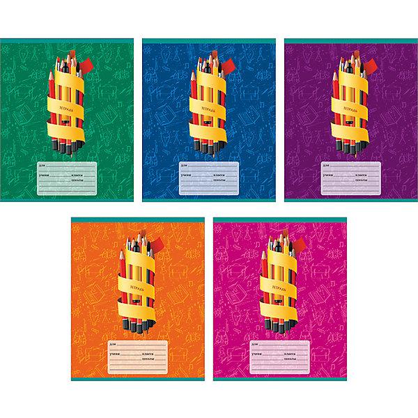 Комплект тетрадей Мир знаний (10 шт), 24 листа, Канц-ЭксмоБумажная продукция<br>Характеристики комплекта тетрадей Мир знаний:<br><br>• размеры: 20.2х16.3х3.5 см<br>• количество листов: 24 шт.<br>• разлиновка: линейку<br>• формат: А 5 <br>• комплектация: тетрадь<br>• бумага: офсет, плотностью 60 г/м2.<br>• обложка: мелованный картон, выборочный лак <br>• бренд: Канц-Эксмо<br>• страна бренда: Россия<br>• страна производителя: Россия<br><br>Комплект тетрадей Мир знаний от российского производителя Канц-Эксмо выполнен в формате А5. На обложке тетрадей нанесен яркий орнамент. Количество листов 24, тетради в линейку с полями. Крепление: скрепка. Обложка у изделий плотная - мелованный картон, выборочный лак.<br><br>Комплект тетрадей Мир знаний от российского производителя Канц-Эксмо можно купить в нашем интернет-магазине.<br>Ширина мм: 202; Глубина мм: 163; Высота мм: 40; Вес г: 66; Возраст от месяцев: 72; Возраст до месяцев: 2147483647; Пол: Унисекс; Возраст: Детский; SKU: 5448404;