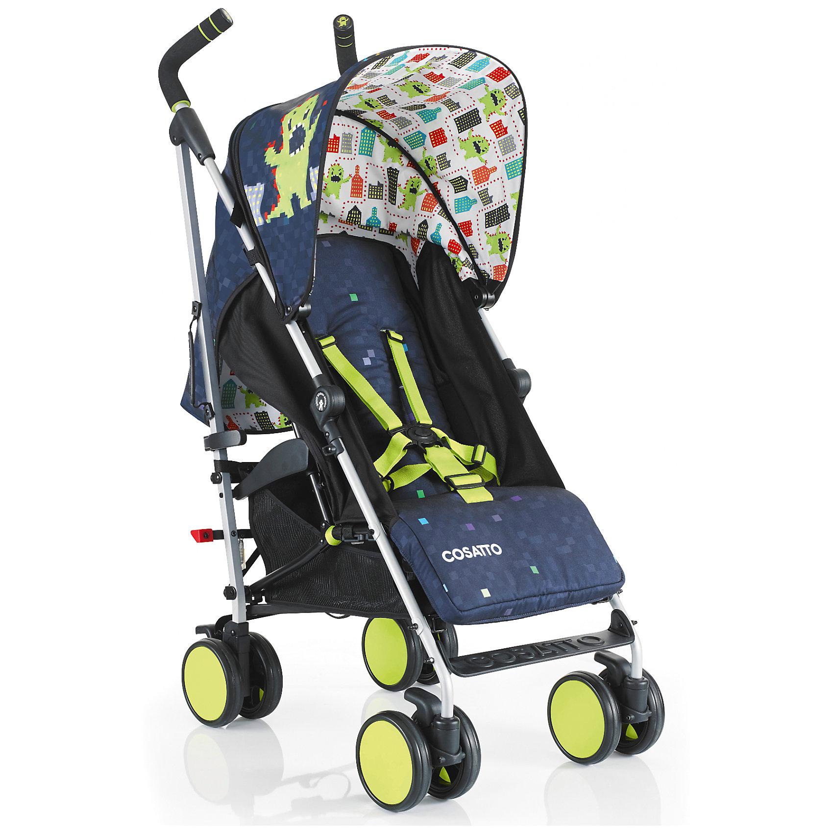 Коляска-трость Cosatto Supa Go, Monster ArcadeКоляски-трости<br>Стильная коляска станет для родителей не только незаменимой вещью, но и стильным аксессуаром. Функциональность, дизайн и маневренность – все это – новая модель от Cosatto. Все материалы, использованные при изготовлении, безопасны и отвечают требованиям по качеству продукции.<br><br>Дополнительные характеристики: <br><br>возраст: 6 месяцев – 3 года;<br>регулируемый капюшон;<br>механизм складывания: трость;<br>регулировка спинки;<br>ножной тормоз;<br>пятиточечные ремни безопасности;<br>габариты: 78 х 48,5 х 110 см;<br>материал шасси: алюминий;<br>комплектация: дождевик<br><br>ВНИМАНИЕ!!! В комплектацию коляски не входит бампер, его можно купить отдельно.<br><br>Коляску-трость SUPA Go от компании Cosatto можно приобрести в нашем магазине.<br><br>Яркие и стильные расцветки коляски поднимут вам настроение. Регулируемый капюшон и спинка. Без бампера<br><br>Ширина мм: 1120<br>Глубина мм: 280<br>Высота мм: 280<br>Вес г: 12000<br>Возраст от месяцев: 6<br>Возраст до месяцев: 36<br>Пол: Унисекс<br>Возраст: Детский<br>SKU: 5448679