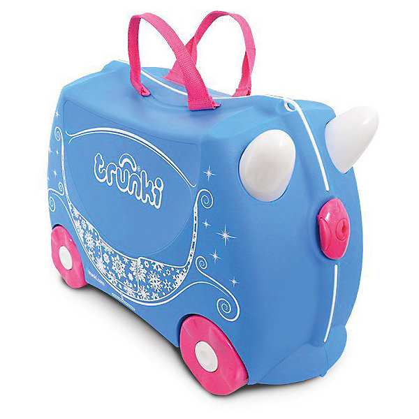 Чемодан на колесиках Жемчужная Карета принцессы, TRUNKIДорожные сумки и чемоданы<br>Характеристики чемодан на колесиках Жемчужная Карета принцессы:<br><br>• возраст: от 3 лет<br>• пол: для девочек<br>• цвет: голубой<br>• допустимый вес эксплуатации : 50 кг.<br>• состав: пластик, текстиль.<br>• объем: 18 л.<br>• размер чемодана: 46х21х31 см.<br>• вес: 1.7 кг. <br>• упаковка: картонная коробка.<br>• бренд: Trunki<br>• страна обладатель бренда: Великобритания.<br><br>Чемодан сделан из прочного пластика, его вместимость составляет 2 кг. Во внутреннем отделении есть ремни, которые закрепляют вещи, совсем как в настоящем взрослом чемодане. В такой чемодан ребенок сам с большим удовольствием будет укладывать вещи и присматривать за ним во время путешествия.<br><br>К тому же большим преимуществом чемоданчика является то, что он выполняет функцию игрушки-каталки. Так, у ребенка будет возможность поиграть во время длительных процедур оформления документов, что поможет малышу быть энергичным и веселым.<br><br>Чемодан на колесиках Жемчужная карета принцессы торговой марки Транки (Trunki) можно купить в нашем интернет-магазине.<br>Ширина мм: 460; Глубина мм: 210; Высота мм: 310; Вес г: 1700; Возраст от месяцев: 36; Возраст до месяцев: 2147483647; Пол: Женский; Возраст: Детский; SKU: 5448801;