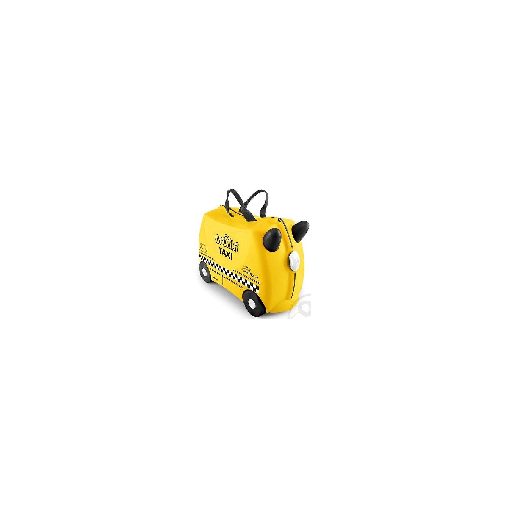 Чемодан на колесиках Тони таксист, TRUNKIДорожные сумки и чемоданы<br>Характеристики чемодан на колесиках Тони таксист:<br><br>• возраст: от 3 лет<br>• пол: для мальчиков<br>• цвет: желто-черный.<br>• допустимый вес эксплуатации : 50 кг.<br>• состав: пластик, текстиль.<br>• объем: 18 л.<br>• размер игрушки: 46 х 21 х 31 см.<br>• вес: 1.7 кг. <br>• упаковка: картонная коробка.<br>• бренд: Trunki<br>• страна обладатель бренда: Великобритания.<br><br>Чемодан на колесиках Тони-таксист вместит все необходимое для недолгого путешествия. Надежные застежки сохранят вещи в целости. Чемодан будет удобно как нести за ручки, так и везти на колесиках. Если ваш ребенок захочет передохнуть, то можно посадить его сверху.<br><br>Чемодан на колесиках Тони таксист торговой марки Транки (Trunki) можно купить в нашем интернет-магазине.<br><br>Ширина мм: 460<br>Глубина мм: 210<br>Высота мм: 310<br>Вес г: 1700<br>Возраст от месяцев: 36<br>Возраст до месяцев: 2147483647<br>Пол: Мужской<br>Возраст: Детский<br>SKU: 5448802
