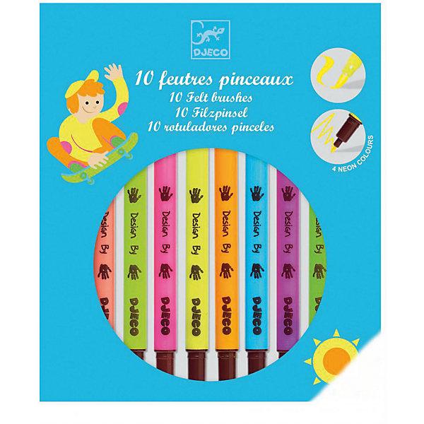 Набор двухсторонних фломастеров, 10 шт., DJECOФломастеры<br>Характеристики набора двухсторонних фломастеров:<br><br>• возраст: от 6 лет<br>• пол: универсальный<br>• комплект: 10 фломастеров.<br>• состав: пластик, краситель.<br>• размер упаковки: 19.2 х 16.5 х 1.5 см.<br>• упаковка: картонная коробка блистерного типа.<br>• бренд: Djeco<br>• страна обладатель бренда: Франция.<br><br>Двухсторонние фломастеры от торговой марки Djeco (Джеко) десяти ярких цветов легко наносятся, благодаря им рисунок получается насыщенных и сочных цветов. Такие необычные фломастеры понравятся юному художнику: на одном конце у них тонкий грифель, а на другом - они в виде кисти для более мягкого нанесения. Ребенок может ими раскрашивать, оформлять письменные работы, рисовать и вволю воплощать свою фантазию. <br><br>Набор двухсторонних фломастеров от торговой марки Djeco (Джеко) можно купить в нашем интернет-магазине.<br><br>Ширина мм: 160<br>Глубина мм: 167<br>Высота мм: 190<br>Вес г: 132<br>Возраст от месяцев: 72<br>Возраст до месяцев: 2147483647<br>Пол: Унисекс<br>Возраст: Детский<br>SKU: 5448805