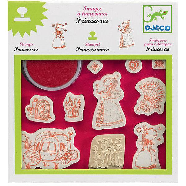 Набор штампов Принцессы, DJECOДетские штампы и трафареты<br>Характеристики набора штампов Принцессы:<br><br>• возраст: от 3 лет<br>• пол: для девочек<br>• комплект: 10 штампов, штемпельная подушечка.<br>• состав: резина<br>• размер упаковки: 21х23х2 см.<br>• упаковка: картонная коробка блистерного типа.<br>• бренд: Djeco<br>• страна обладатель бренда: Франция.<br><br>Набор штампов Принцессы несомненно понравится девочке. Рисунок будет еще красочнее и интереснее, если во время рисования использовать эти штампы. Ими можно дополнить любое изображение или же вовсе создать его из печатей. В наборе имеется десять различных штампов, из которых можно создать замечательный сюжет с Принцессой в главной роли.<br><br>Набор штампов Принцессы от торговой марки Djeco (Джеко) можно купить в нашем интернет-магазине.<br>Ширина мм: 230; Глубина мм: 210; Высота мм: 200; Вес г: 290; Возраст от месяцев: 48; Возраст до месяцев: 2147483647; Пол: Женский; Возраст: Детский; SKU: 5448808;