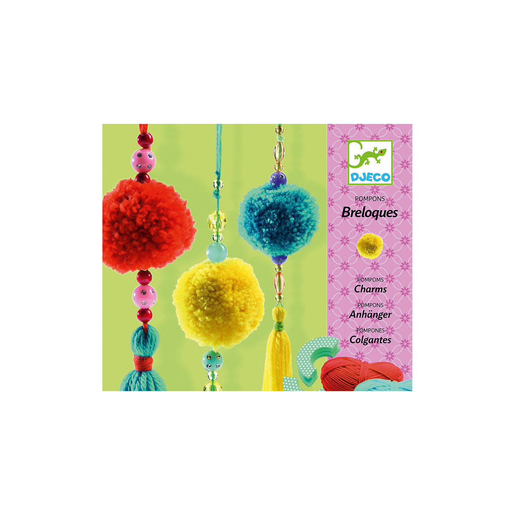 Набор для творчества Помпон, DJECOКниги для развития творческих навыков<br>Характеристики набора для творчества Помпон:<br><br>• пол: для девочки<br>• возраст: от 3 лет<br>• материал: пластик, текстиль<br>• состав набора: 3 мотка шерсти разных цветов (длина мотка 22 метра), магнитное приспособление для изготовления помпонов, множество бусинок, пошаговая инструкция <br>• размер упаковки: 15x15x5 см<br>• бренд: Djeco<br>• страна обладателя бренда: Франция<br><br>Превосходный набор для детского творчества Помпон от французского производителя Djeco (Джеко) поможет раскрыть творческий потенциал Вашего ребенка! Красивый творческий набор для детей, который поможет им сделать прекрасные разноцветные помпоны, используя простую и доступную пошаговую инструкцию. Когда изделия будут готовы, то они станут украшением детской комнаты! <br><br>Набор развивает мелкую моторику пальцев ребенка, творческие способности, цветовосприятие, воображение. Красочная подробная инструкция с примерами подскажет детям, как нужно создавать помпоны. Набор упакован в красивую подарочную коробку. Все детали набора выполнены аккуратно и качественно и безопасны для детей. <br><br>Набор для творчества Помпон торговой марки Djeco (Джеко) можно купить в нашем интернет-магазине.<br><br>Ширина мм: 50<br>Глубина мм: 150<br>Высота мм: 150<br>Вес г: 257<br>Возраст от месяцев: 84<br>Возраст до месяцев: 2147483647<br>Пол: Женский<br>Возраст: Детский<br>SKU: 5448809