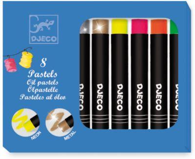 Набор пастельных карандашей, 8 ярких цветов, DJECO