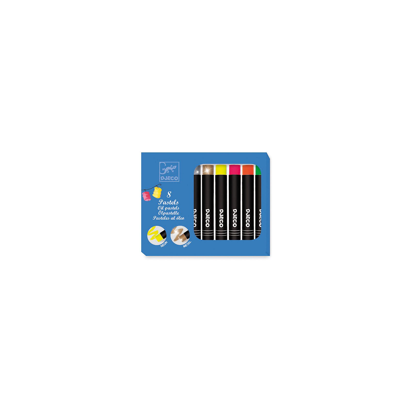 Набор пастельных карандашей, 8 ярких цветов, DJECOРисование<br>Характеристики пастельных карандашей:<br><br>• возраст: от 3 лет<br>• пол: универсальный<br>• тип: карандаши<br>• материал: пластик<br>• размер упаковки: 16.5 х 9.5 х 1.5 см.<br>• упаковка: картонная коробка.<br>• бренд: Djeco<br>• страна обладатель бренда: Франция.<br><br>Набор пастельных карандашей откроют для вашего ребенка яркий мир изобразительного искусства. Товары фирмы Djeco отличаются оригинальным дизайном, функциональностью и качеством материалов. В комплекте 12 пластиковых футляров с гелиевой пастелью ярких цветов в розовой коробочке. <br><br>Пастельные карандаши легко наносятся на бумагу, создавая гладкие мягкие линии, смешав цвета, можно получить новый оттенок. Благодаря пластиковому футляру с закручивающейся крышечкой, дети не будут пачкать руки. Маленькие художники в полной мере смогут проявить свою фантазию и креативность. Рисование развивает мелкую моторику рук, усидчивость и воображение.<br><br>Набор пастельных карандашей от торговой марки Djeco (Джеко) можно купить в нашем интернет-магазине.<br><br>Ширина мм: 120<br>Глубина мм: 95<br>Высота мм: 150<br>Вес г: 230<br>Возраст от месяцев: 72<br>Возраст до месяцев: 2147483647<br>Пол: Унисекс<br>Возраст: Детский<br>SKU: 5448829