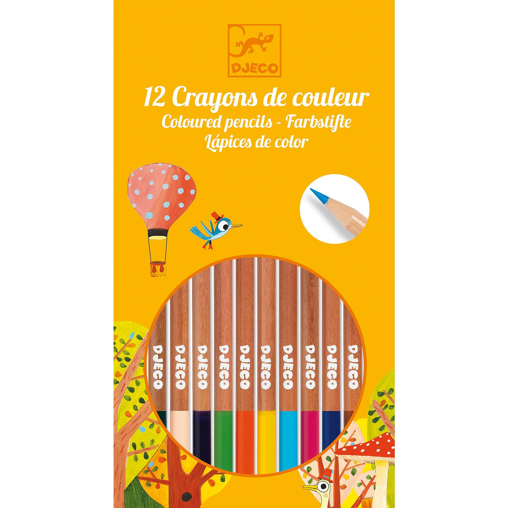 Набор из 12 карандашей, DJECOРисование<br>Характеристики набора из 12 карандашей:<br><br>• возраст: от 3 лет<br>• пол: универсальный<br>• комплект: 12 карандашей.<br>• материал: дерево<br>• состав: пластик, краситель.<br>• размер упаковки: 10 х 18 х 1 см.<br>• упаковка: картонная коробка .<br>• бренд: Djeco<br>• страна обладатель бренда: Франция.<br><br>Набор цветных карандашей от французского производителя Djeco (Джеко) непременно понравится каждому творческому ребенку! В наборе он обнаружит 12 ярких карандашей удобной формы. Красивые цвета и великолепное европейское качество приведут в восторг не только начинающих художников, но и опытных ценителей искусства. <br><br>Рисунки, созданные с помощью карандашей от Djeco, не выцветают и сохраняют насыщенность цвета в течение долгого времени. Карандаши совершенно безопасны для детей и изготовлены из высококачественного дерева. Набор станет превосходным подарком для каждого ребенка, заинтересовавшегося процессом творчества. В процессе рисования у ребенка будет развиваться фантазия, воображение и творческие способности. <br><br>Набор из 12 карандашей от торговой марки Djeco (Джеко) можно купить в нашем интернет-магазине.<br><br>Ширина мм: 100<br>Глубина мм: 18<br>Высота мм: 10<br>Вес г: 300<br>Возраст от месяцев: 48<br>Возраст до месяцев: 2147483647<br>Пол: Унисекс<br>Возраст: Детский<br>SKU: 5448830