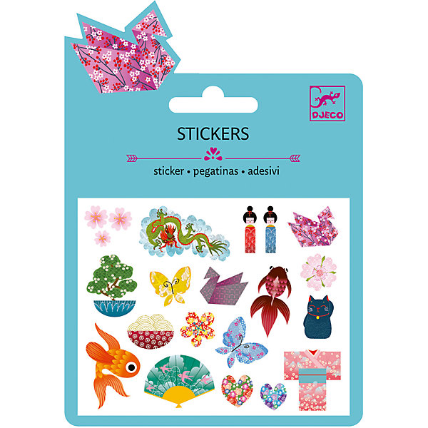 Наклейки Японские мотивы, DJECOКнижки с наклейками<br>Характеристики наклейки Японские мотивы:<br><br>• возраст: от 3 лет<br>• пол: для девочки<br>• комплект: 1 лист с наклейками.<br>• состав: бумага, полимер.<br>• размер упаковки: 11.5 х 15.5 см.<br>• упаковка: картонная подложка.<br>• бренд: Djeco<br>• страна обладатель бренда: Франция.<br><br>С помощью набора наклеек Японские Мотивы ребенок сможет украсить свои игровые и канцелярские принадлежности множеством изображений, передающих атмосферу страны восходящего солнца. Все наклейки имеют качественную клейкую основу, не будут отлипать от предмета, к которому они приклеены и станут достойными декоративными элементами, которые всегда будут радовать глаз.<br><br>Наклейки Японские мотивы торговой марки Djeco (Джеко) можно купить в нашем интернет-магазине.<br>Ширина мм: 110; Глубина мм: 16; Высота мм: 10; Вес г: 10; Возраст от месяцев: 36; Возраст до месяцев: 2147483647; Пол: Женский; Возраст: Детский; SKU: 5448837;