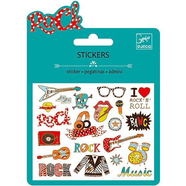 Наклейки Рок-н-ролл, DJECOКнижки с наклейками<br>Характеристики наклейки Рок-н-ролл:<br><br>• возраст: от 3 лет<br>• пол: для девочки<br>• комплект: 1 лист с наклейками.<br>• состав: бумага<br>• размер упаковки: 11.5 х 15.5 см.<br>• упаковка: картонная конверт.<br>• бренд: Djeco<br>• страна обладатель бренда: Франция.<br><br>Набор наклеек Рок-н-ролл от французского бренда Djeco понравится всем фанатам молодежной музыки. В наборе имеется лист со стикерами, на которых изображены различные предметы, тем или иным образом ассоциирующиеся с данным музыкальным течением. Стикеры можно наклеить в тетради, дневнике или использовать при создании авторской поздравительной открытки. Модные и яркие наклейки понравятся не только детям, но и взрослым.<br><br>Наклейки Рок-н-ролл торговой марки Djeco (Джеко) можно купить в нашем интернет-магазине.<br><br>Ширина мм: 110<br>Глубина мм: 16<br>Высота мм: 10<br>Вес г: 10<br>Возраст от месяцев: 36<br>Возраст до месяцев: 2147483647<br>Пол: Женский<br>Возраст: Детский<br>SKU: 5448840