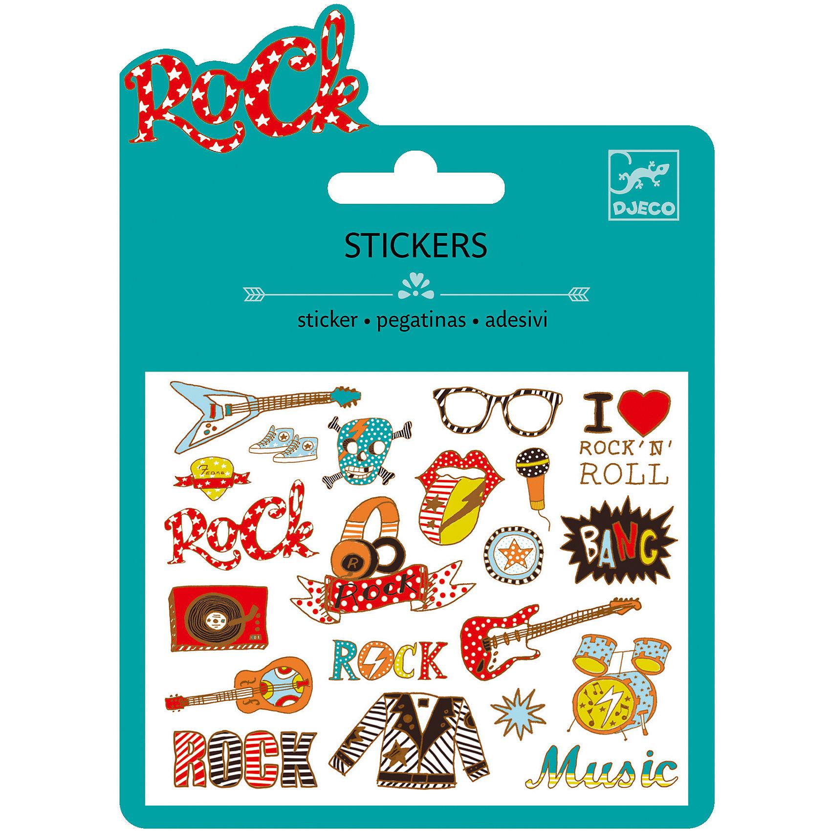 Наклейки Рок-н-ролл, DJECOКниги для развития творческих навыков<br>Характеристики наклейки Рок-н-ролл:<br><br>• возраст: от 3 лет<br>• пол: для девочки<br>• комплект: 1 лист с наклейками.<br>• состав: бумага<br>• размер упаковки: 11.5 х 15.5 см.<br>• упаковка: картонная конверт.<br>• бренд: Djeco<br>• страна обладатель бренда: Франция.<br><br>Набор наклеек Рок-н-ролл от французского бренда Djeco понравится всем фанатам молодежной музыки. В наборе имеется лист со стикерами, на которых изображены различные предметы, тем или иным образом ассоциирующиеся с данным музыкальным течением. Стикеры можно наклеить в тетради, дневнике или использовать при создании авторской поздравительной открытки. Модные и яркие наклейки понравятся не только детям, но и взрослым.<br><br>Наклейки Рок-н-ролл торговой марки Djeco (Джеко) можно купить в нашем интернет-магазине.<br><br>Ширина мм: 110<br>Глубина мм: 16<br>Высота мм: 10<br>Вес г: 10<br>Возраст от месяцев: 36<br>Возраст до месяцев: 2147483647<br>Пол: Женский<br>Возраст: Детский<br>SKU: 5448840