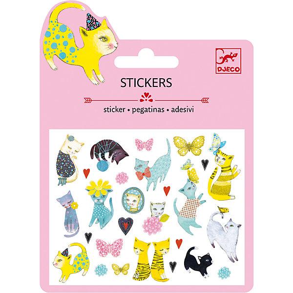 Наклейки Кошки, DJECOКнижки с наклейками<br>Характеристики наклейки Кошки:<br><br>• возраст: от 3 лет<br>• пол: для девочек<br>• комплект: 1 лист с наклейками.<br>• состав: бумага<br>• размер упаковки: 11.5 х 15.5 см.<br>• упаковка: картонная конверт.<br>• бренд: Djeco<br>• страна обладатель бренда: Франция.<br><br>Набор наклеек от Djeco с изображением кошек, созданных художниками, подарит радость его обладателю. Эти кошки идеально подойдут для украшения как открыток, так и монитора компьютера. Их можно использовать везде, где только позволит фантазия или родители. Наклейки сделаны из прочного материала, хорошо приклеиваются практически к любой поверхности.<br><br>Наклейки Кошки торговой марки Djeco (Джеко) можно купить в нашем интернет-магазине.<br><br>Ширина мм: 110<br>Глубина мм: 15<br>Высота мм: 1<br>Вес г: 8<br>Возраст от месяцев: 36<br>Возраст до месяцев: 2147483647<br>Пол: Женский<br>Возраст: Детский<br>SKU: 5448841