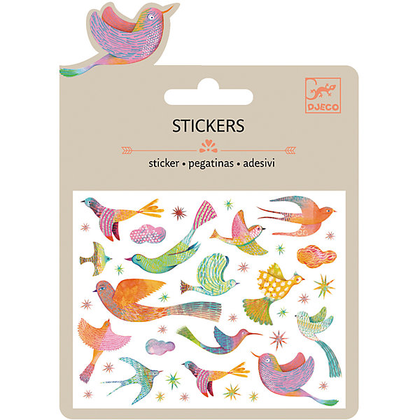 Наклейки Райские птицы, DJECOКнижки с наклейками<br>Характеристики наклейки Райские птицы:<br><br>• возраст: от 3 лет<br>• пол: для девочки<br>• комплект: 1 лист с наклейками.<br>• состав: бумага, полимер.<br>• размер упаковки: 11.5 х 15.5 см.<br>• упаковка: картонная конверт.<br>• бренд: Djeco<br>• страна обладатель бренда: Франция.<br><br>Набор наклеек Райские птицы познакомит ребенка с миром птиц. Он сможет узнать много нового о редких птицах и детально рассмотреть их. Такими красочными наклейками можно будет украсить любую тетрадку или просто перенести их на пустой лист бумаги, после чего дорисовать живописный пейзаж, и в итоге такую картину можно будет повесить на стену.<br><br>Наклейки Райские птицы торговой марки Djeco (Джеко) можно купить в нашем интернет-магазине.<br>Ширина мм: 110; Глубина мм: 153; Высота мм: 1; Вес г: 8; Возраст от месяцев: 36; Возраст до месяцев: 2147483647; Пол: Женский; Возраст: Детский; SKU: 5448842;