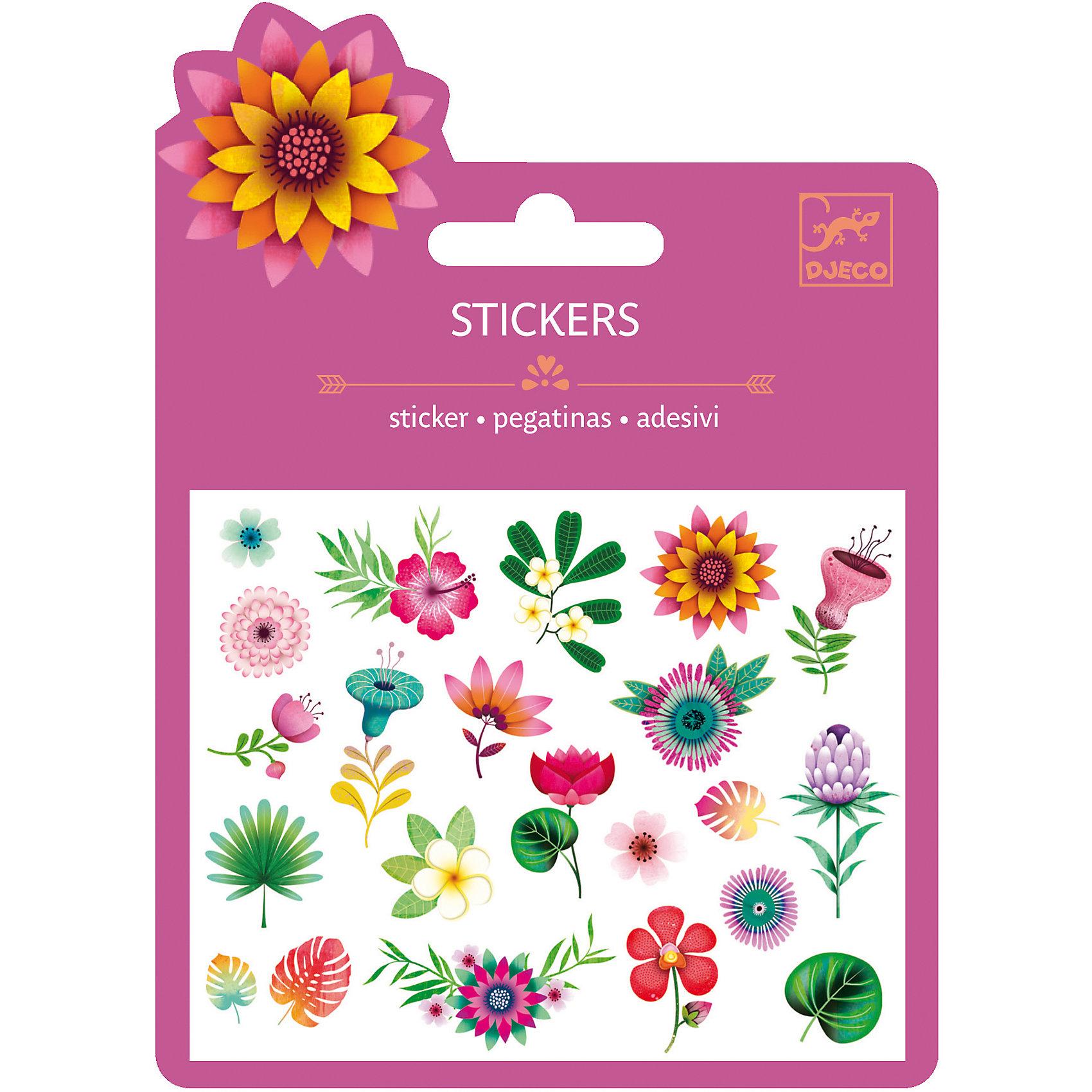 Наклейки Тропические цветы, DJECOКнижки с наклейками<br>Характеристики наклейки Тропические цветы:<br><br>• возраст: от 3 лет<br>• пол: для девочек <br>• комплект: 1 лист с наклейками.<br>• состав: бумага, клей.<br>• размер упаковки: 11.5 х 15.5 см.<br>• упаковка: картонная конверт.<br>• бренд: Djeco<br>• страна обладатель бренда: Франция.<br><br>Набор наклеек Тропические цветы от бренда Djeco поможет оригинально украсить тетрадь, блокнот, дневник и другие школьные принадлежности. Для выбора доступны изображения цветов различных раскрасок и форм, произрастающих тропическим солнцем. Наклейки надежно приклеиваются к поверхности выдерживают долгую эксплуатацию.<br><br>Наклейки Тропические цветы торговой марки Djeco (Джеко) можно купить в нашем интернет-магазине.<br><br>Ширина мм: 110<br>Глубина мм: 153<br>Высота мм: 1<br>Вес г: 8<br>Возраст от месяцев: 36<br>Возраст до месяцев: 2147483647<br>Пол: Женский<br>Возраст: Детский<br>SKU: 5448843