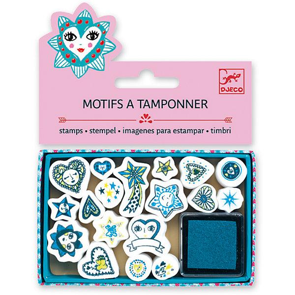 Набор штампов Сердечки и звезды, DJECOДетские печати и штампы<br>Характеристики набора штампов Сердечки и звезды:<br><br>• возраст: от 6 лет<br>• пол: для девочки<br>• комплект: 18 штампов, 1 подушечка с краской.<br>• состав: картон, пластик<br>• размер упаковки: 11.5x15.5x2 см<br>• упаковка: пакет с хедером.<br>• бренд: Djeco<br>• страна обладатель бренда: Франция.<br><br>В набор входят 18 штампов с сердечками и звездочками, а также подушечка, пропитанная краской. Перенося изображение на бумагу, ребенок сможет создать оригинальный красивый рисунок. Наборы для детского творчества развивают фантазию, воображение и творческие способности ребенка, учат его внимательности и усидчивости.<br><br>Набор штампов Сердечки и звезды от торговой марки Djeco (Джеко) можно купить в нашем интернет-магазине.<br><br>Ширина мм: 110<br>Глубина мм: 15<br>Высота мм: 10<br>Вес г: 54<br>Возраст от месяцев: 72<br>Возраст до месяцев: 2147483647<br>Пол: Женский<br>Возраст: Детский<br>SKU: 5448847