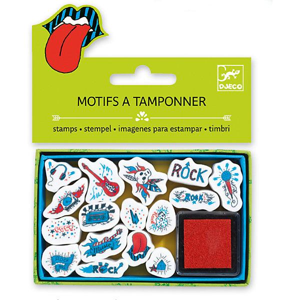 Набор штампов Музыка, DJECOДетские печати и штампы<br>Характеристики набора штампов Музыка:<br><br>• возраст: от 3 лет<br>• пол: универсальный<br>• комплект: 15 штампов с музыкальными символами, 1 подушечка с краской.<br>• состав: картон, пластик.<br>• размер упаковки: 21 х 23 х 2 см.<br>• упаковка: пакет с хедером.<br>• бренд: Djeco<br>• страна обладатель бренда: Франция.<br><br>Набор штампов Музыка замечательно подойдет для меломанов, а также работающих и учащихся в этой сфере. При помощи такого набора можно создавать тематические поздравительные открытки, конверты, приглашения и многое другое. В набор входит 15 штампов, которые сделают веселую жизнь музыканта еще более интересной и красочной.<br><br>Набор штампов Музыка от торговой марки Djeco (Джеко) можно купить в нашем интернет-магазине.<br><br>Ширина мм: 110<br>Глубина мм: 15<br>Высота мм: 10<br>Вес г: 55<br>Возраст от месяцев: 36<br>Возраст до месяцев: 2147483647<br>Пол: Унисекс<br>Возраст: Детский<br>SKU: 5448848