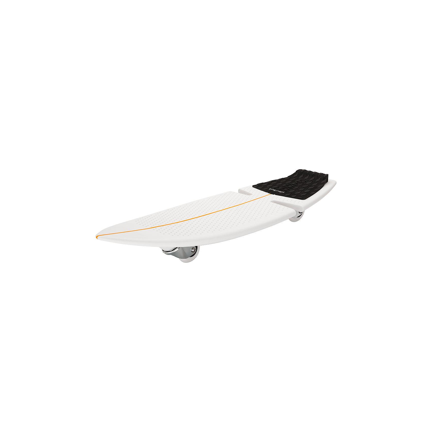 Роллерсёрф RipSurf, чёрный, RazorСкейтборды и лонгборды<br>Роллерсёрф RipSurf, чёрный, Razor (Рэзор)<br><br>Характеристики:<br><br>• запатентованные технологии RipStik<br>• колеса вращаются на 360 градусов<br>• подходит для сложных трюков<br>• длина деки 82 см<br>• ширина деки 28 см<br>• для роста: 100-200 см<br>• максимальная нагрузка: 100 кг<br>• запасное колесо в комплекте<br>• размер упаковки: 28х16х87<br>• вес: 4,1 кг<br>• цвет: черный<br><br>С роллерсерфером RipSurf ваш ребенок всегда сможет провести время с пользой. RipSurf подходит для детей ростом от 100 сантиметров, весом до 100 кг. Колеса роллерсёрфа вращаются на 360 градусов. <br><br>Платформа имеет прорезиненную основу и хорошо гнется. Ripsurf отлично подойдет и для новичков, и для опытных сёрферов. Самые невероятные трюки можно выполнить, если научиться правильно управлять роллерсёрфом. В комплект входят красивые наклейки и запасное колесо.<br><br>Роллерсёрф RipSurf, чёрный, Razor (Рэзор) можно купить в нашем интернет-магазине.<br><br>Ширина мм: 870<br>Глубина мм: 160<br>Высота мм: 280<br>Вес г: 4100<br>Возраст от месяцев: 84<br>Возраст до месяцев: 2147483647<br>Пол: Унисекс<br>Возраст: Детский<br>SKU: 5448963
