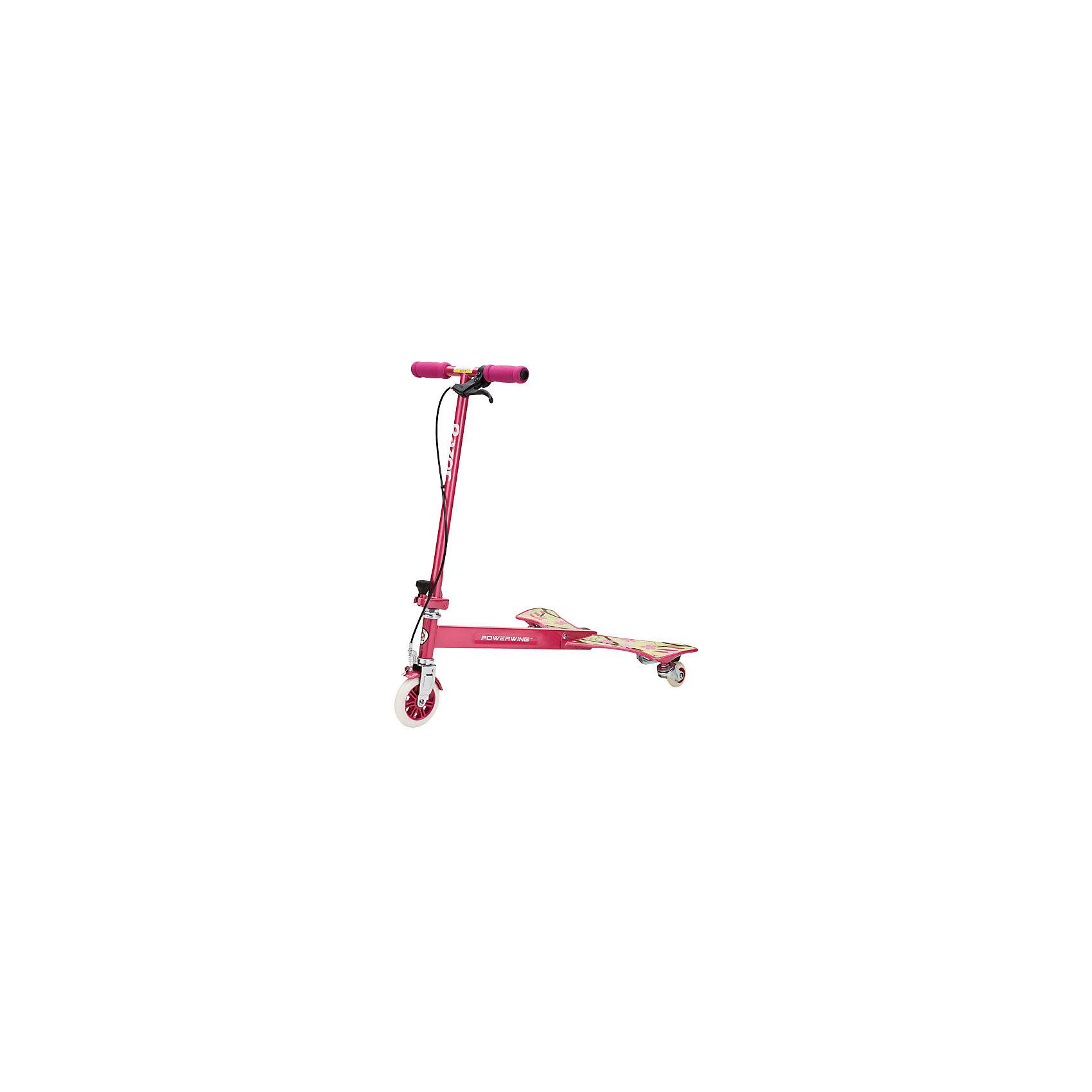 Тридер PowerWing Sweet Pea, розовый, RazorСамокаты<br>Тридер PowerWing Sweet Pea, розовый, Razor (Рэзор)<br><br>Характеристики:<br><br>• легкое управление<br>• подходит для дрифта<br>• большое переднее колесо из полиуретана<br>• прочный корпус и полимерные крылья<br>• ручной тормоз<br>• ширина руля: 35 см<br>• высота руля: 79,5 см<br>• ширина крыльев: 24 см<br>• размер упаковки: 14х36,5х65 см<br>• вес: 6,5 кг<br>• цвет: розовый<br><br>Тридер PowerWing Sweet Pea - необычный самокат с широкими задними крыльями. Тридер едет при помощи покачиваний влево и вправо. Оснащен ручным тормозом. Тридер подходит для дрифта и несложных трюков. Высота руля фиксированная, составляет 79,5 сантиметров. Стильный дизайн тридера никого не оставит равнодушным!<br><br>Тридер PowerWing Sweet Pea, розовый, Razor (Рэзор) можно купить в нашем интернет-магазине.<br><br>Ширина мм: 650<br>Глубина мм: 365<br>Высота мм: 140<br>Вес г: 6500<br>Возраст от месяцев: 60<br>Возраст до месяцев: 2147483647<br>Пол: Женский<br>Возраст: Детский<br>SKU: 5448967