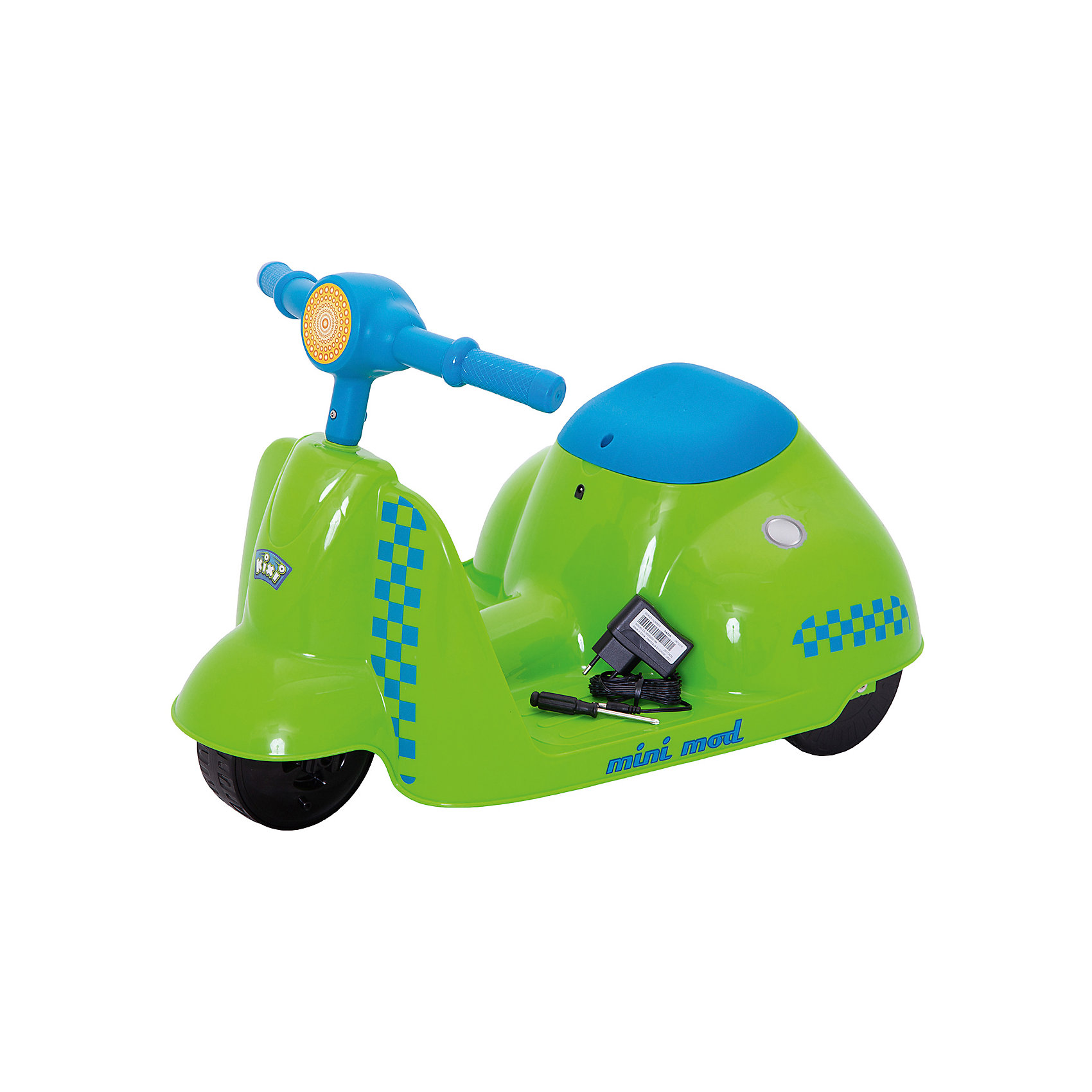 Электроскутер Mini Mod, зеленый, RazorСамокаты<br>Электроскутер Mini Mod, зеленый, Razor (Рэзор)<br><br>Характеристики:<br><br>• для детей от 3-х лет<br>• скорость до 3,5 км/ч<br>• мотор, адаптированный для детей<br>• максимальная нагрузка - 20 кг<br>• рост: 80-120 см<br>• педаль для активации мотора<br>• ширина руля - 37 см<br>• размер скутера: 63х38 см<br>• аккумулятор 6В<br>• цвет: зеленый<br>• размер упаковки: 28,5х41х64 см<br>• вес: 4,9 кг<br><br>Электроскутер - прекрасный подарок для маленьких райдеров. Он подходит для детей от трёх лет. Ребенок сможет передвигаться по дорогам на скорости до 3,5 км/ч. Скутер оснащен педалью для активации мотора. Мотор адаптирован для детей младшего возраста. Электроскутер имеет удобный руль и сиденье. Подходит для детей ростом от 80 до 120 сантиметров, весом до 20 кг.<br><br>Электроскутер Mini Mod, зеленый, Razor (Рэзор) вы можете купить в нашем интернет-магазине.<br><br>Ширина мм: 640<br>Глубина мм: 410<br>Высота мм: 285<br>Вес г: 4900<br>Возраст от месяцев: 36<br>Возраст до месяцев: 2147483647<br>Пол: Унисекс<br>Возраст: Детский<br>SKU: 5448971
