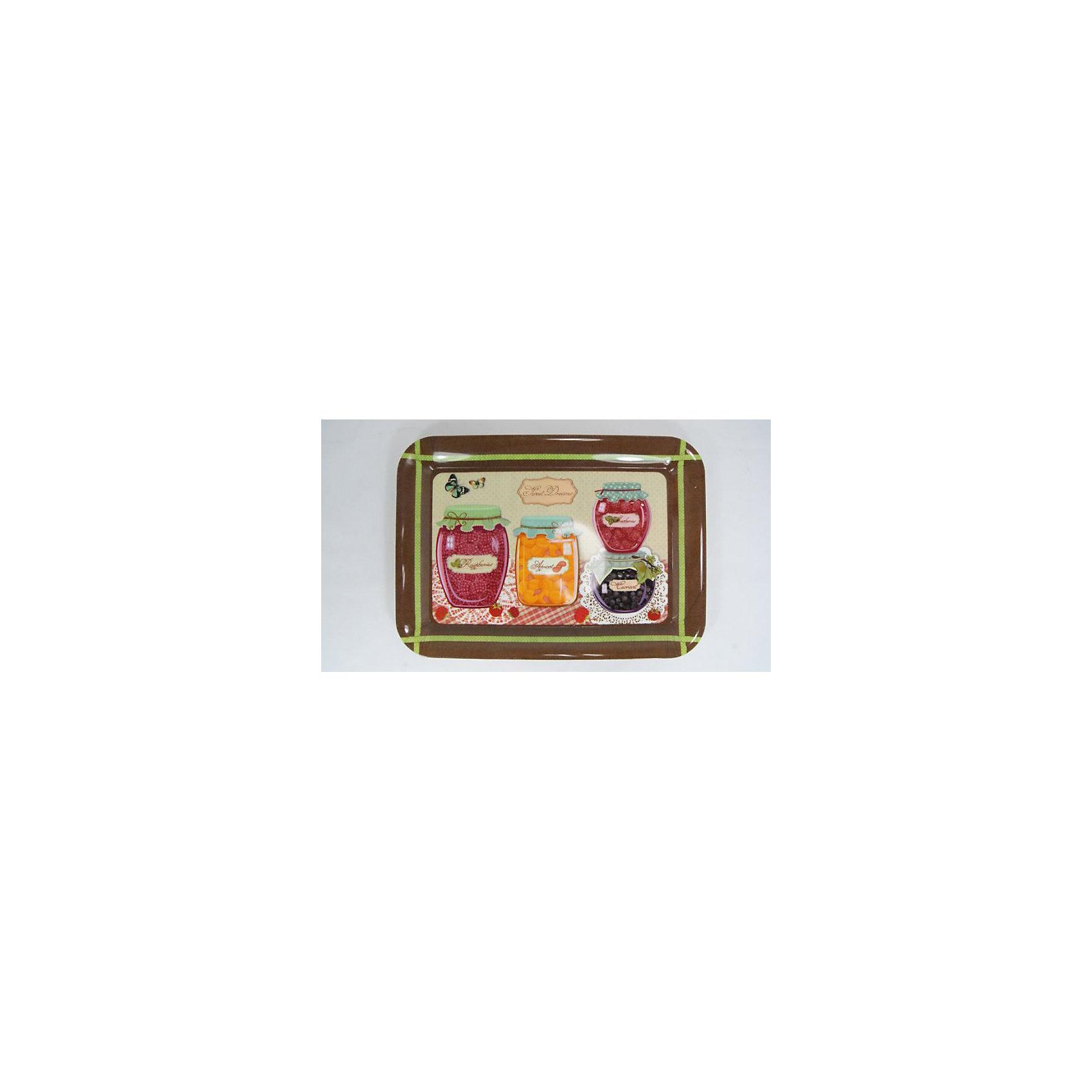 Поднос кухонный  Варенья из полипропилена,Поднос кухонный Варенья, из полипропилена, Феникс-Презент<br><br>Характеристики:<br><br>• завышенные бортики<br>• красочное оформление<br>• изготовлен из полипропилена<br>• размер: 35,5х25,5 см<br><br>Кухонный поднос Варенья изготовлен из качественного полипропилена. Поднос отлично подойдет для сервировки стола и украшения интерьера. Завышенные бортики подноса очень удобны для переноски. Дно оформлено красивым рисунком с изображением баночек с вкусным вареньем. Размер подноса - 35,5х25,5 сантиметров.<br><br>Поднос кухонный Варенья, из полипропилена, Феникс-Презент вы можете купить в нашем интернет-магазине.<br><br>Ширина мм: 360<br>Глубина мм: 260<br>Высота мм: 200<br>Вес г: 248<br>Возраст от месяцев: 36<br>Возраст до месяцев: 2147483647<br>Пол: Унисекс<br>Возраст: Детский<br>SKU: 5449521