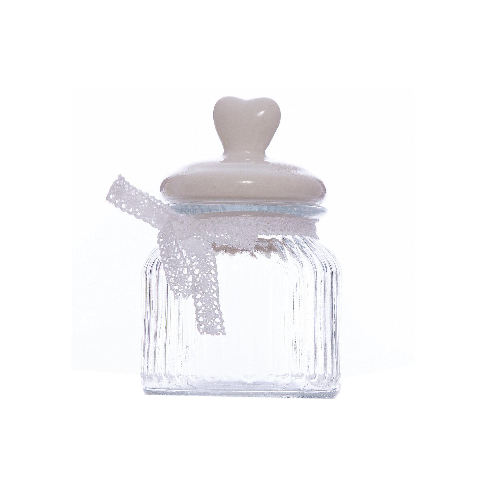 Стеклянная ёмкость для продуктов Розовое сердечко, объем 600 мл., Феникс-ПрезентПосуда<br>Стеклянная ёмкость для продуктов Розовое сердечко, объем 600 мл., Феникс-Презент<br><br>Характеристики:<br><br>• ёмкость для продуктов с керамической крышкой<br>• объем: 600 мл<br>• материал: стекло, керамика, текстиль<br>• размер: 11,4х11,4х19,3 см<br><br>Ёмкость Розовое сердечко подходит для хранения продуктов. Баночка изготовлена из стекла. Крышка выполнена из керамики. Верх крышки изготовлен в виде небольшого сердечка. Ёмкость дополнена текстильным бантом. Объем - 600 мл. Эта ёмкость станет очаровательным украшением для вашей кухни!<br><br>Стеклянная ёмкость для продуктов Розовое сердечко, объем 600 мл., Феникс-Презент можно купить в нашем интернет-магазине.<br><br>Ширина мм: 193<br>Глубина мм: 114<br>Высота мм: 114<br>Вес г: 608<br>Возраст от месяцев: 120<br>Возраст до месяцев: 2147483647<br>Пол: Унисекс<br>Возраст: Детский<br>SKU: 5449524