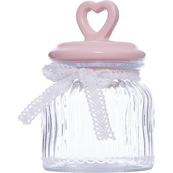 Стеклянная ёмкость для продуктов Розовое сердце, объем 600 мл., Феникс-ПрезентКухонная утварь<br>Стеклянная ёмкость для продуктов Розовое сердце, объем 600 мл., Феникс-Презент<br><br>Характеристики:<br><br>• ёмкость для продуктов с керамической крышкой<br>• объем: 600 мл<br>• материал: стекло, керамика, текстиль<br>• размер: 11,4х11,4х19 см<br><br>Ёмкость для продуктов Розовое сердце изготовлено из прочного стекла. Крышка изготовлена из керамики. Она имеет удобную ручку в виде небольшого сердечка с отверстием. Верх ёмкости оформлен красивым бантиком из текстиля. Объем - 600 мл.<br><br>Стеклянная ёмкость для продуктов Розовое сердце, объем 600 мл., Феникс-Презент можно купить в нашем интернет-магазине.<br><br>Ширина мм: 193<br>Глубина мм: 114<br>Высота мм: 114<br>Вес г: 596<br>Возраст от месяцев: 120<br>Возраст до месяцев: 2147483647<br>Пол: Унисекс<br>Возраст: Детский<br>SKU: 5449527