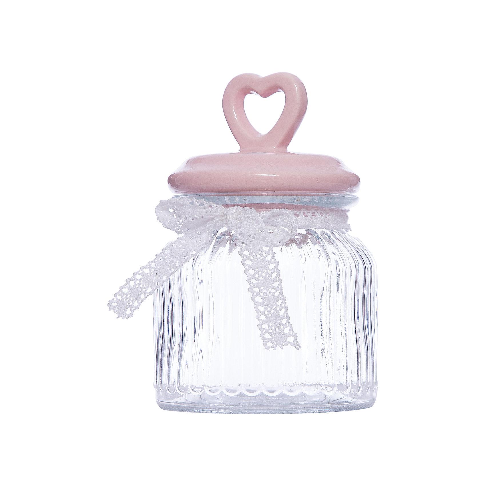 Стеклянная ёмкость для продуктов Розовое сердце, объем 600 мл., Феникс-ПрезентПосуда<br>Стеклянная ёмкость для продуктов Розовое сердце, объем 600 мл., Феникс-Презент<br><br>Характеристики:<br><br>• ёмкость для продуктов с керамической крышкой<br>• объем: 600 мл<br>• материал: стекло, керамика, текстиль<br>• размер: 11,4х11,4х19 см<br><br>Ёмкость для продуктов Розовое сердце изготовлено из прочного стекла. Крышка изготовлена из керамики. Она имеет удобную ручку в виде небольшого сердечка с отверстием. Верх ёмкости оформлен красивым бантиком из текстиля. Объем - 600 мл.<br><br>Стеклянная ёмкость для продуктов Розовое сердце, объем 600 мл., Феникс-Презент можно купить в нашем интернет-магазине.<br><br>Ширина мм: 193<br>Глубина мм: 114<br>Высота мм: 114<br>Вес г: 596<br>Возраст от месяцев: 120<br>Возраст до месяцев: 2147483647<br>Пол: Унисекс<br>Возраст: Детский<br>SKU: 5449527