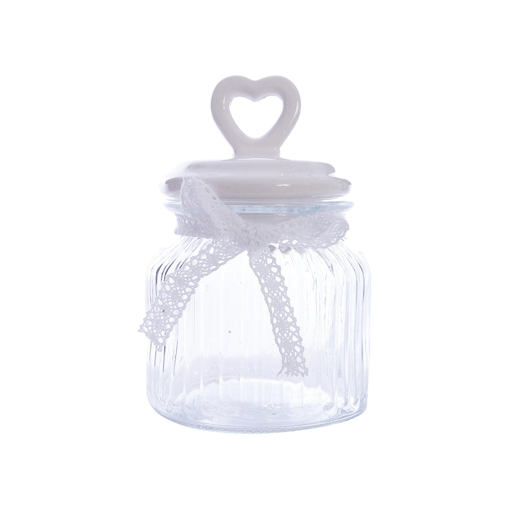 Стеклянная ёмкость для продуктов Белое сердце, объем 600 мл., Феникс-ПрезентПосуда<br>Стеклянная ёмкость для продуктов Белое сердце, объем 600 мл., Феникс-Презент<br><br>Характеристики:<br><br>• ёмкость для продуктов с керамической крышкой<br>• объем: 600 мл<br>• материал: стекло, керамика, текстиль<br>• размер: 11,4х11,4х19 см<br><br>Ёмкость для продуктов Белое сердце изготовлено из прочного стекла. Крышка изготовлена из керамики. Она имеет удобную ручку в виде небольшого сердечка с отверстием. Верх ёмкости оформлен красивым бантиком из текстиля. Объем - 600 мл.<br><br>Стеклянная ёмкость для продуктов Бело сердце, объем 600 мл., Феникс-Презент можно купить в нашем интернет-магазине.<br><br>Ширина мм: 193<br>Глубина мм: 114<br>Высота мм: 114<br>Вес г: 596<br>Возраст от месяцев: 120<br>Возраст до месяцев: 2147483647<br>Пол: Унисекс<br>Возраст: Детский<br>SKU: 5449528