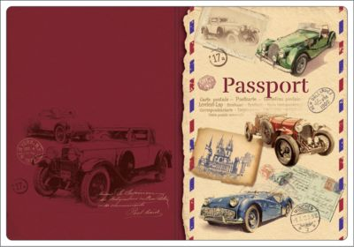 Обложка для паспорта Ретро-автомобили , Феникс-Презент